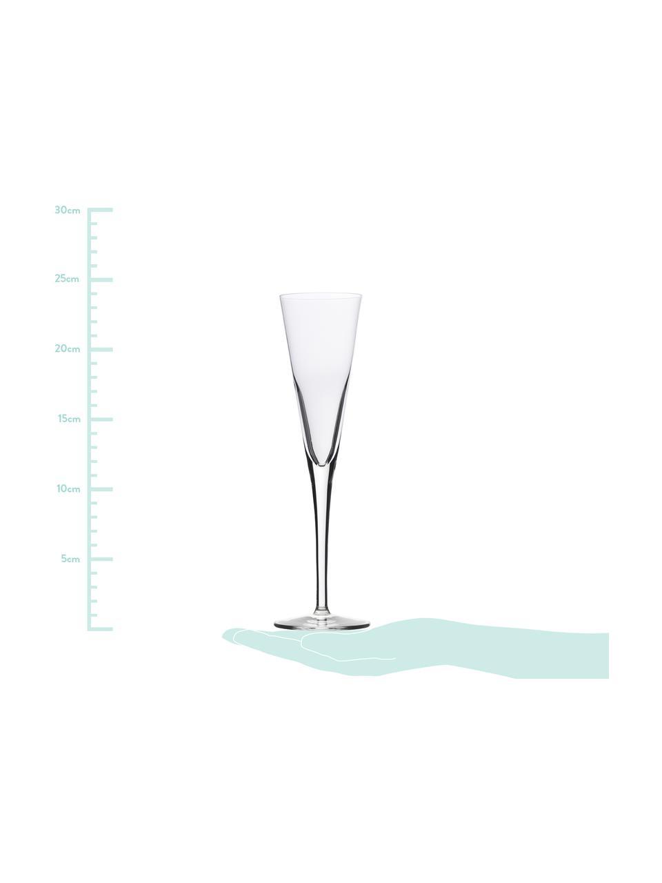 Křišťalová sklenice sekt Event, 6 ks, Transparentní