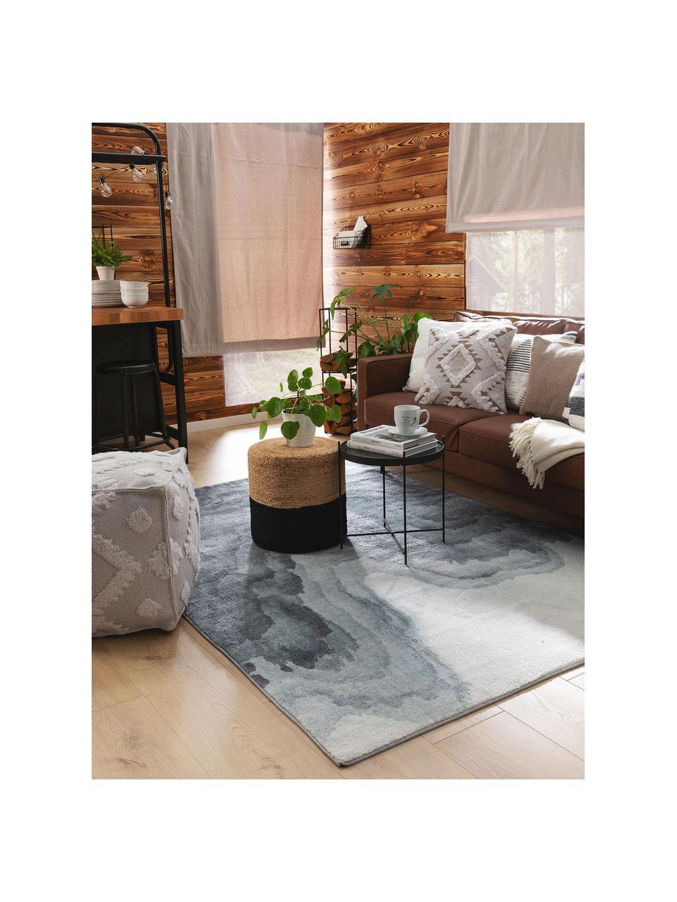 Teppich Mara mit Wellenmotiv in Grautönen, 100% Polyester, Grautöne, B 80 x L 150 cm (Größe XS)