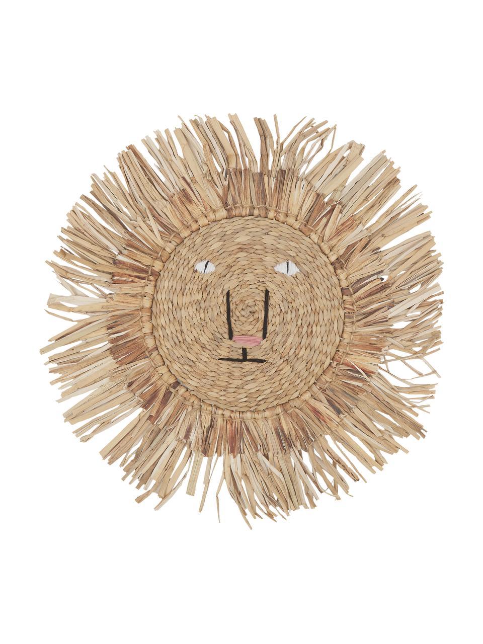 Dekoracja ścienna Sunny, Włókno naturalne, Beżowy, Ø 63 cm