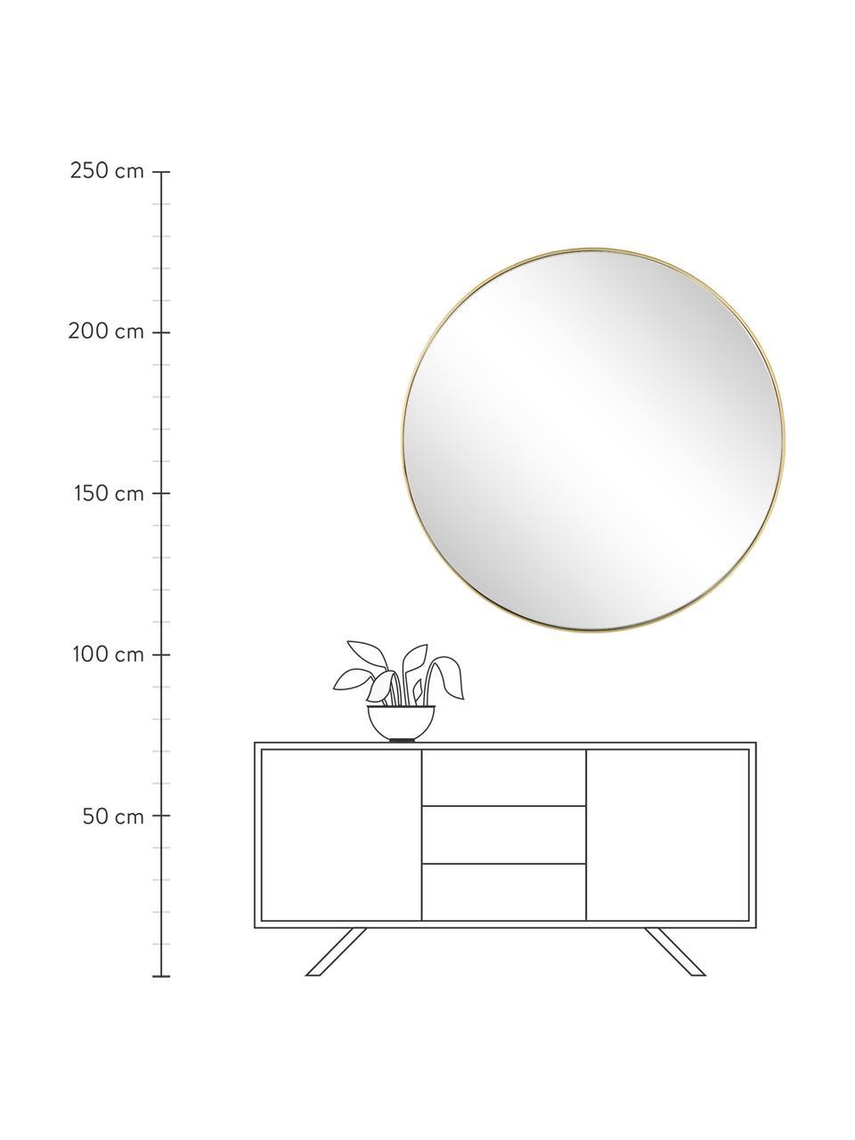 Okrągłe lustro ścienne Ada, Mosiądz szczotkowany, Ø 120 cm