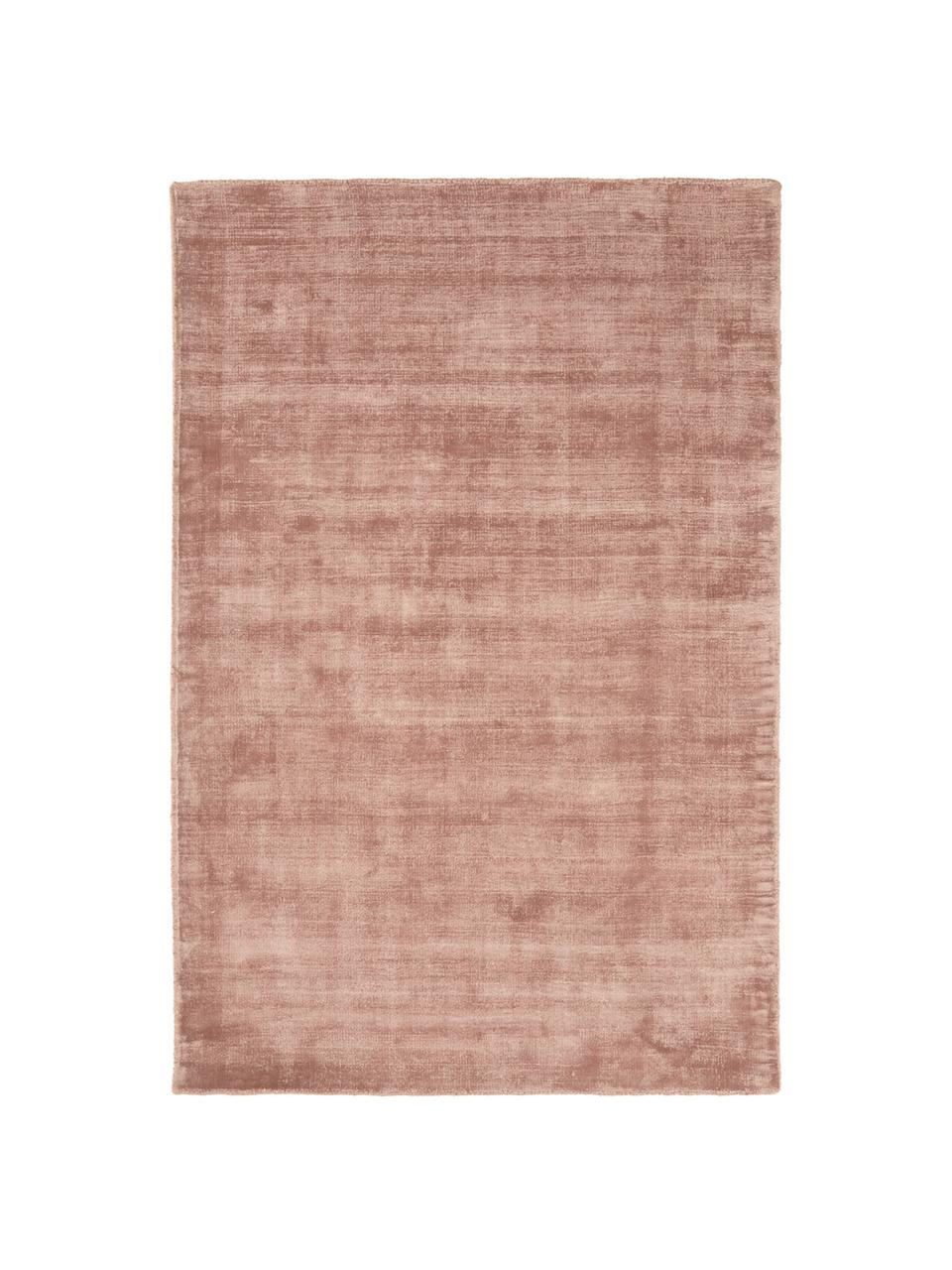 Tappeto in viscosa color terracotta tessuto a mano Jane, Retro: 100% cotone, Terracotta, Larg. 200 x Lung. 300 cm (taglia L)
