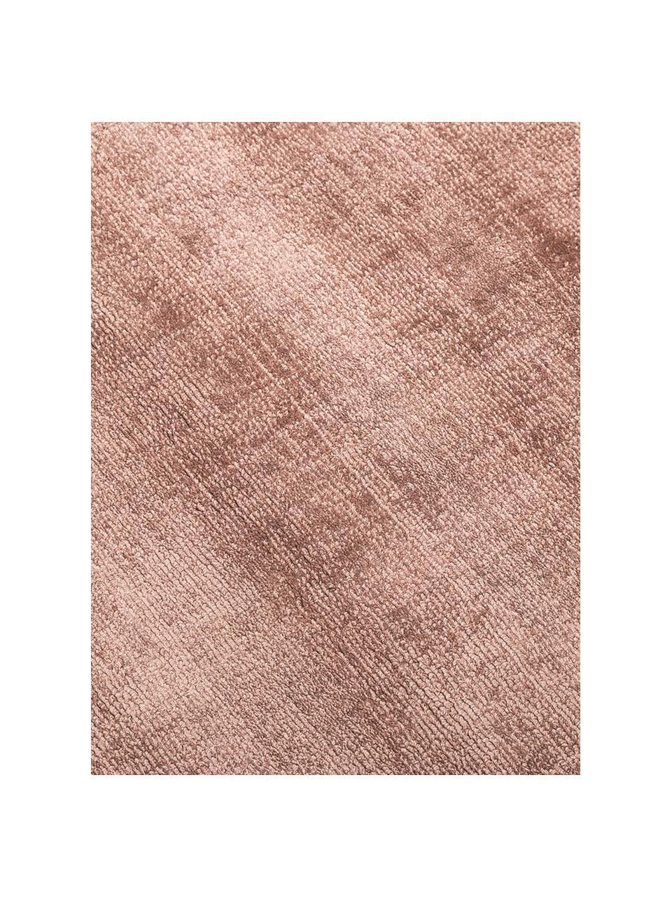 Ručně tkaný viskózový koberec Jane, Terakotová
