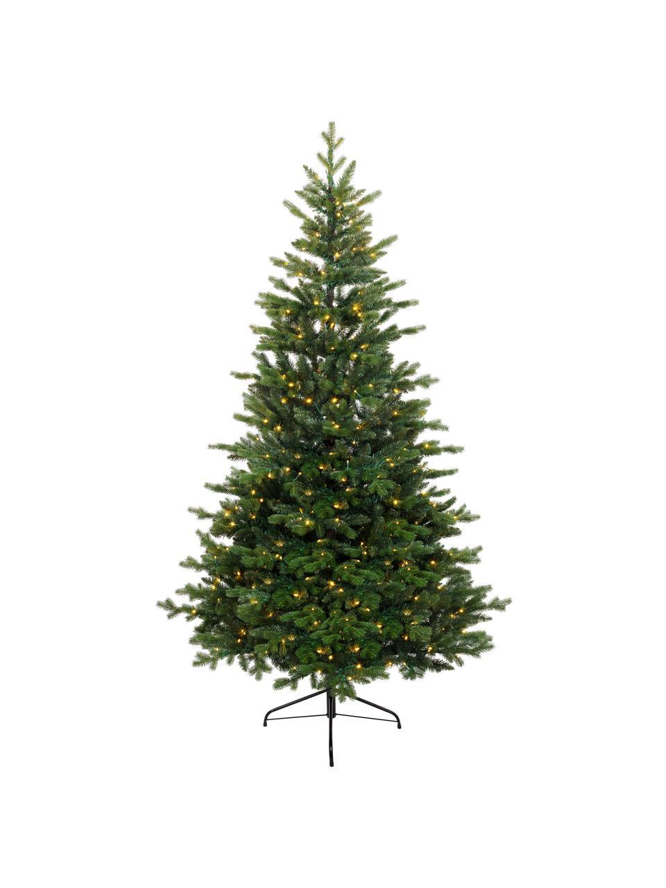 Decoratieve LED kerstboom Allison, Voet: metaal, Groen, Ø 97 x H 150 cm