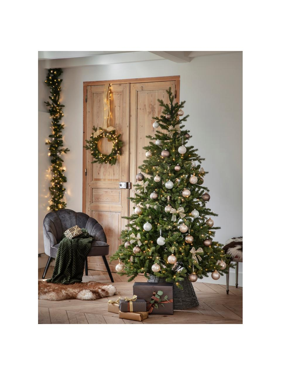 Albero di Natale a LED artificiale Allison, Verde, Ø 97 x Alt. 150 cm
