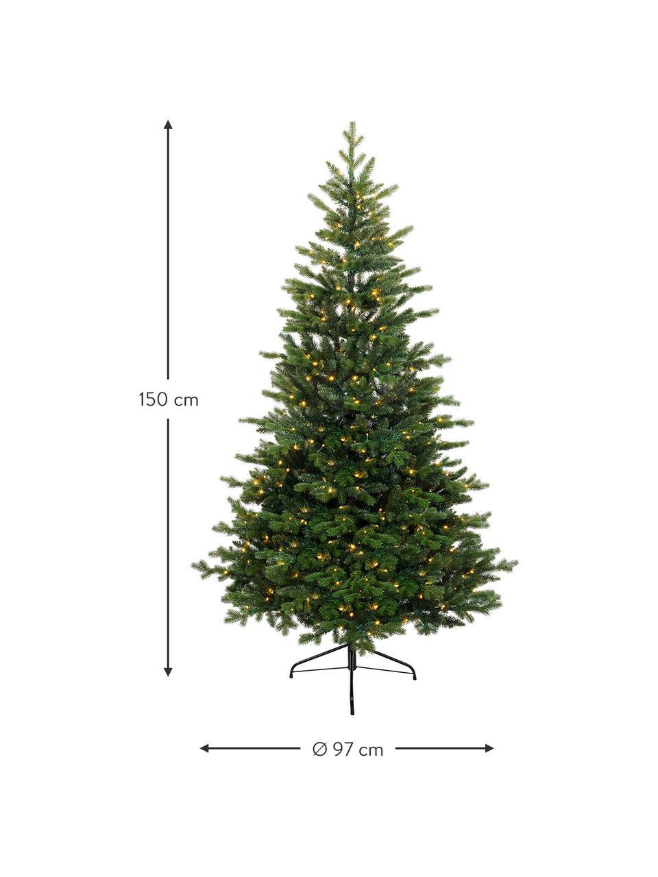 Künstlicher LED-Weihnachtsbaum Allison, Grün, Ø 97 x H 150 cm