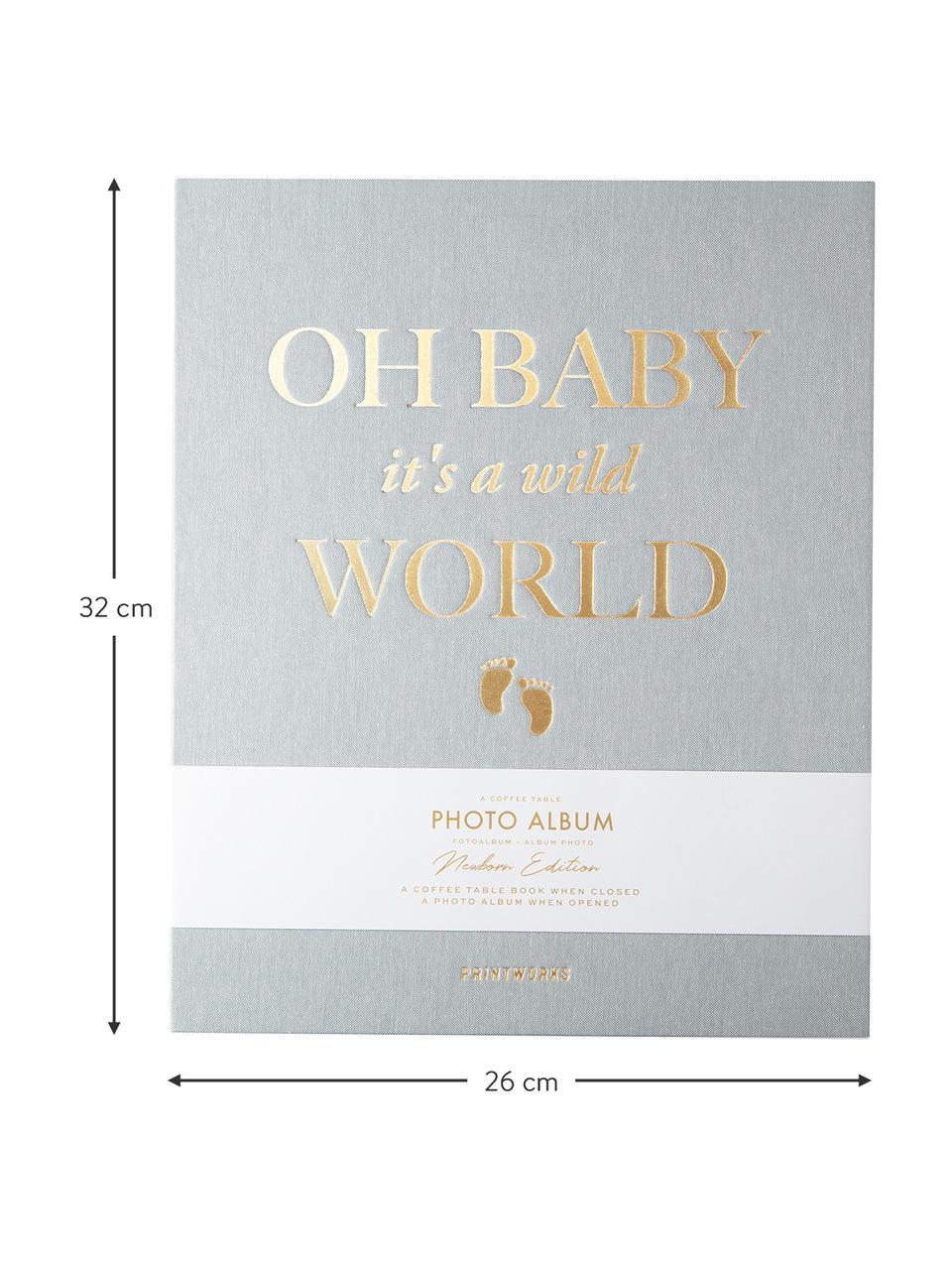 Album photos Baby It's A Wild World, Gris-bleu, couleur dorée