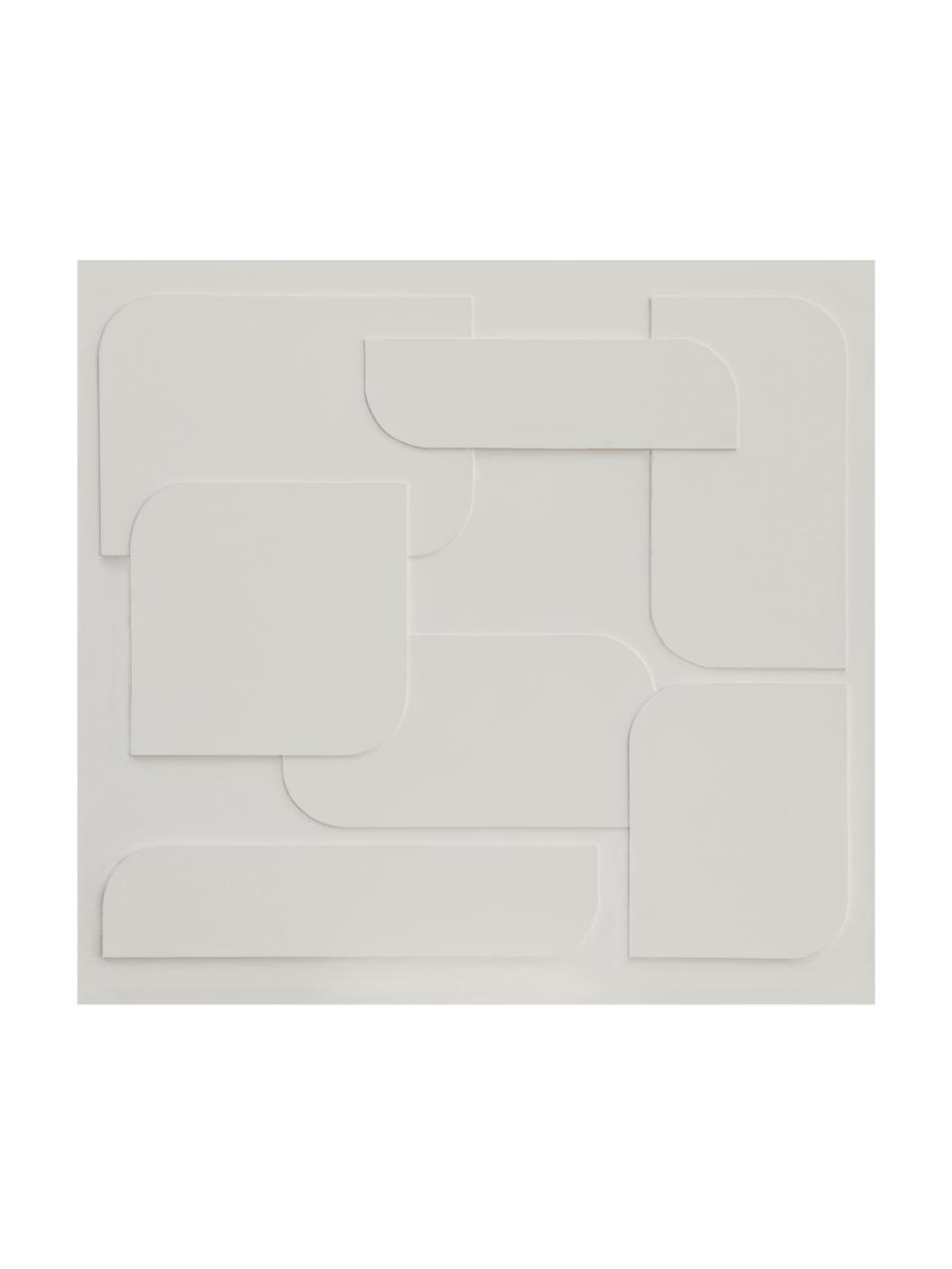 Adesivo murale 3D Geometric Art, Tessuto non tessuto, Beige, Larg. 300 x Alt. 280 cm