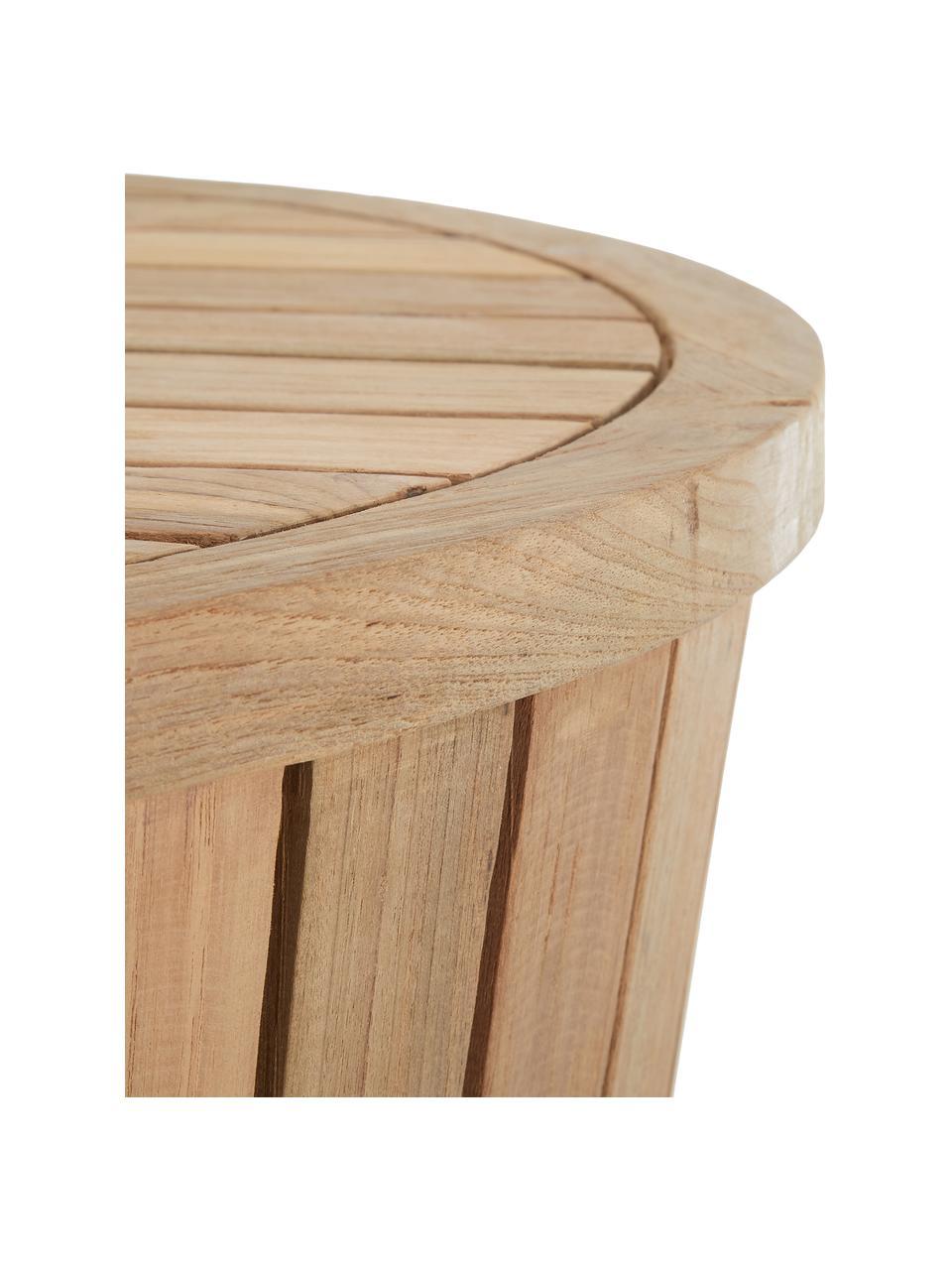 Tavolino rotondo da esterno in teak Circus, Teak riciclato, Legno di teak, Ø 63 x Alt. 43 cm