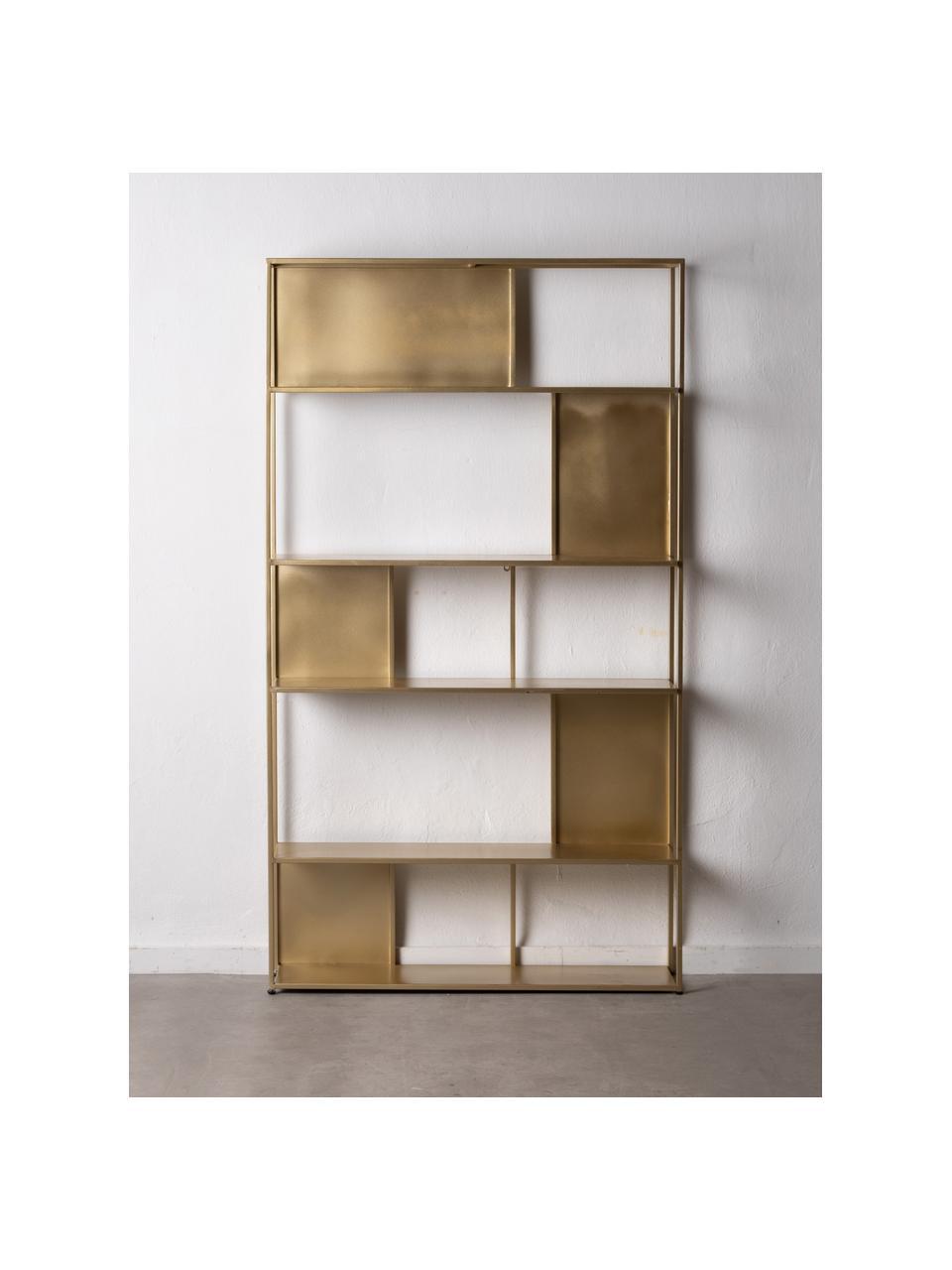 Metall-Standregal Talme in Goldfarben, Metall, beschichtet, Goldfarben, 100 x 175 cm