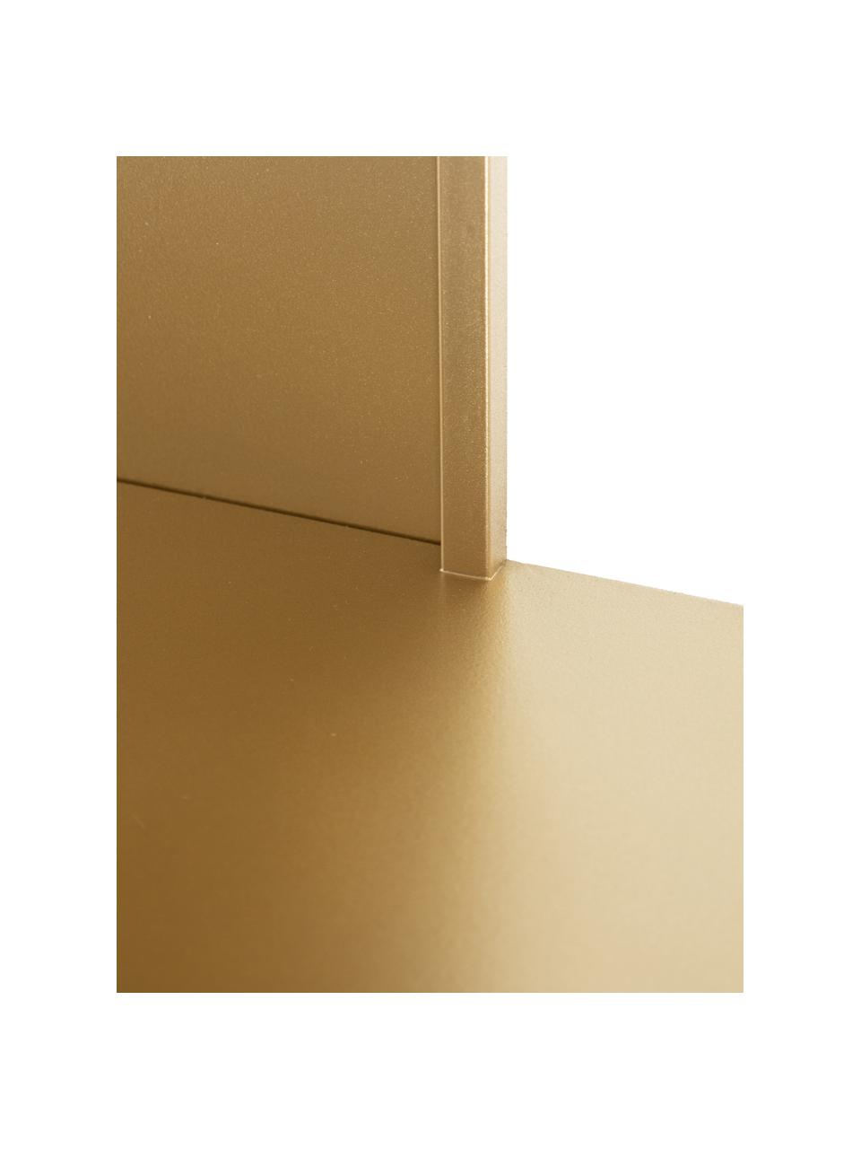 Metalen wandrek Talme in goudkleurig, Gecoat metaal, Goudkleurig, 100 x 175 cm
