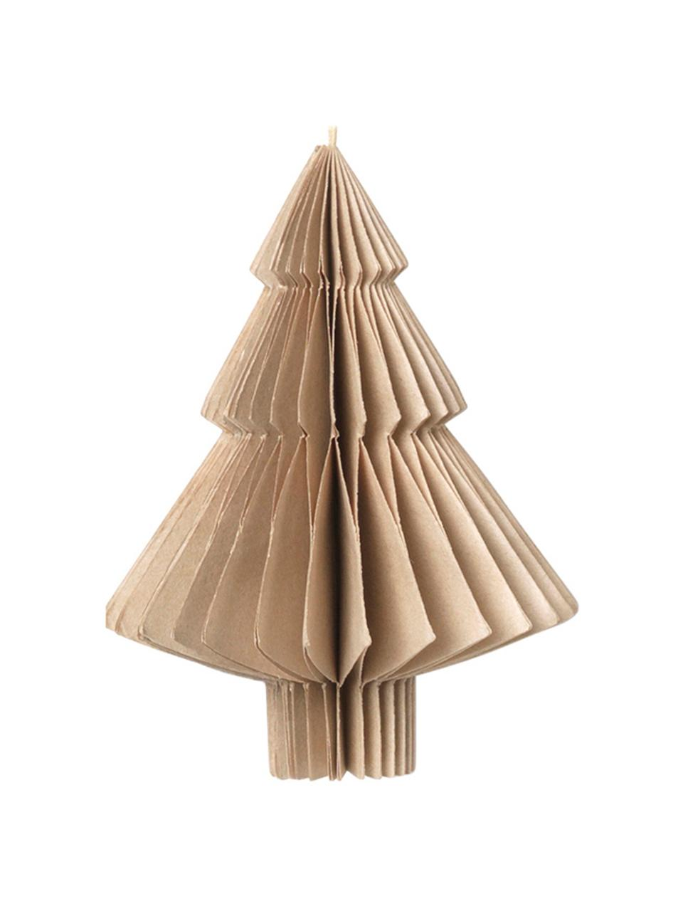 Baumanhänger-Set Christmas Mix, 4-tlg., Papier, Beige, Ø 9 x H 10 cm