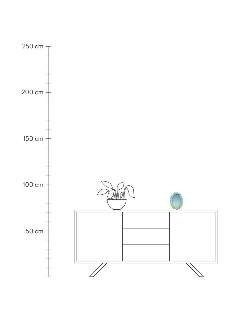 Bilderrahmen Braid, Polyresin, Grün, 13 x 18 cm