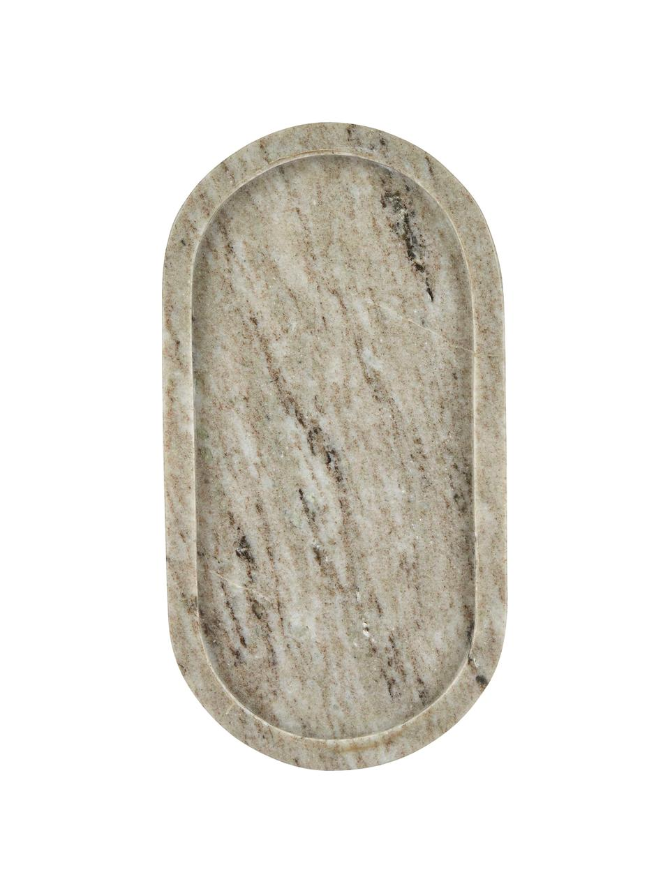 Dekorativní tác z mramoru Oval, Béžová