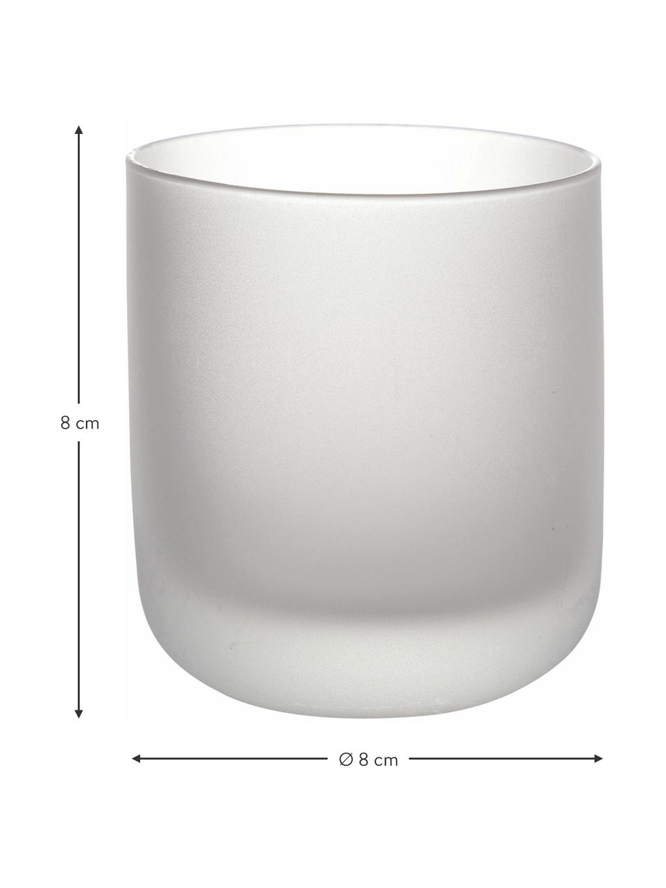 Set 6 bicchieri acqua Oslo, Vetro, Bianco, nero, rosa, Ø 8 x Alt. 8 cm