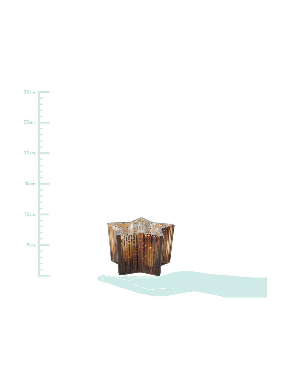 Komplet świeczników na podgrzewacze Imelo, 2 elem., Szkło lakierowane, Szary, brązowy, Ø 11 cm