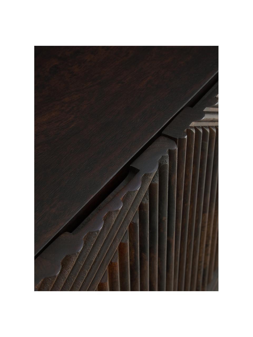 Szafka niska z litego drewna mangowego z drzwiczkami Louis, Drewno mangowe, S 180 x W 55 cm