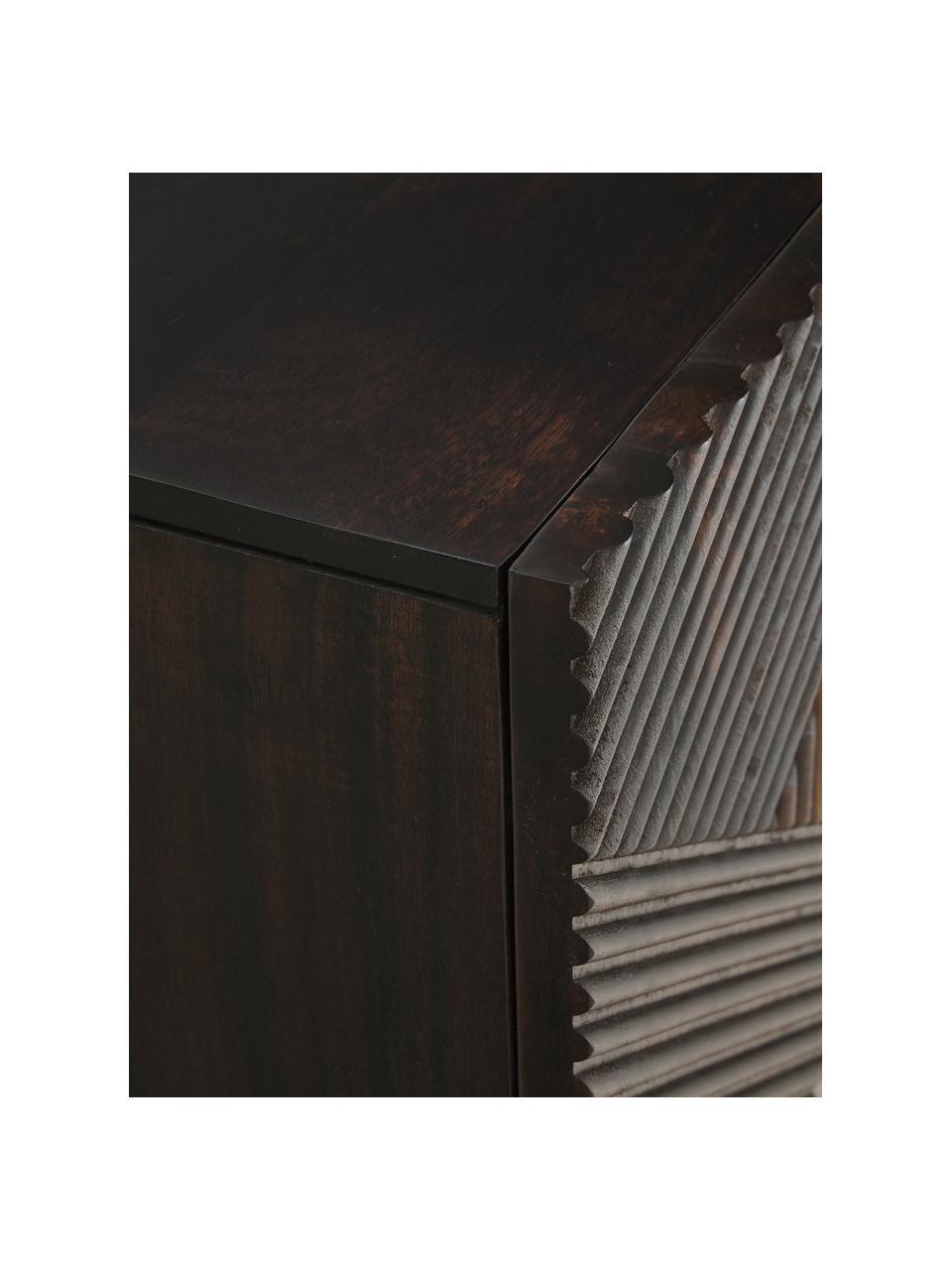 Lowboard Louis aus massivem Mangoholz mit Türen, Mangoholz, 180 x 55 cm