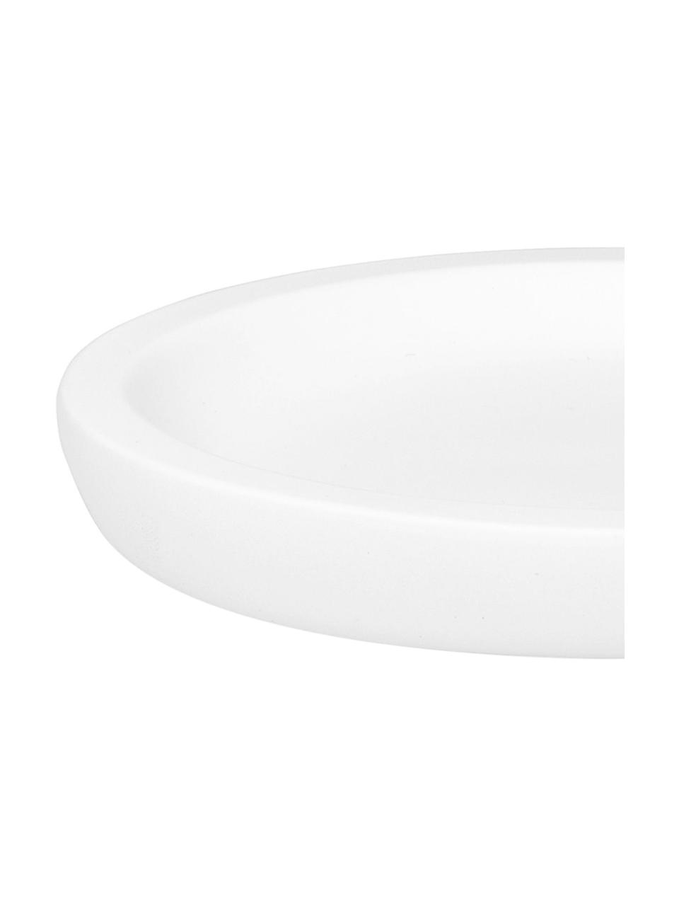 Seifenschale Angel, Keramik, Weiß, 13 x 2 cm