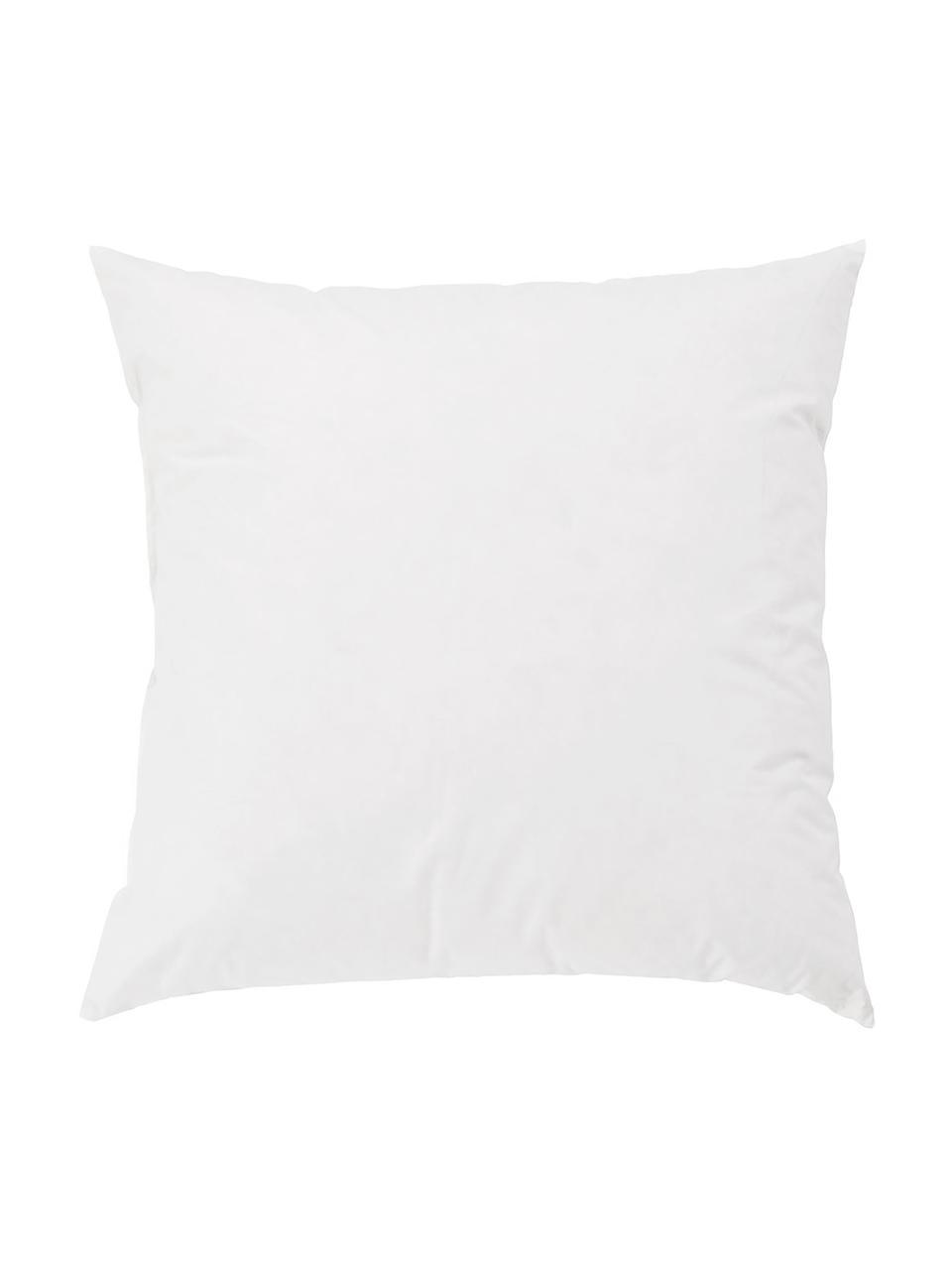 Imbottitura per cuscino in piume Comfort, 50 x 50, Rivestimento: twill fine, 100% cotone s, Bianco, Larg. 50 x Lung. 50 cm