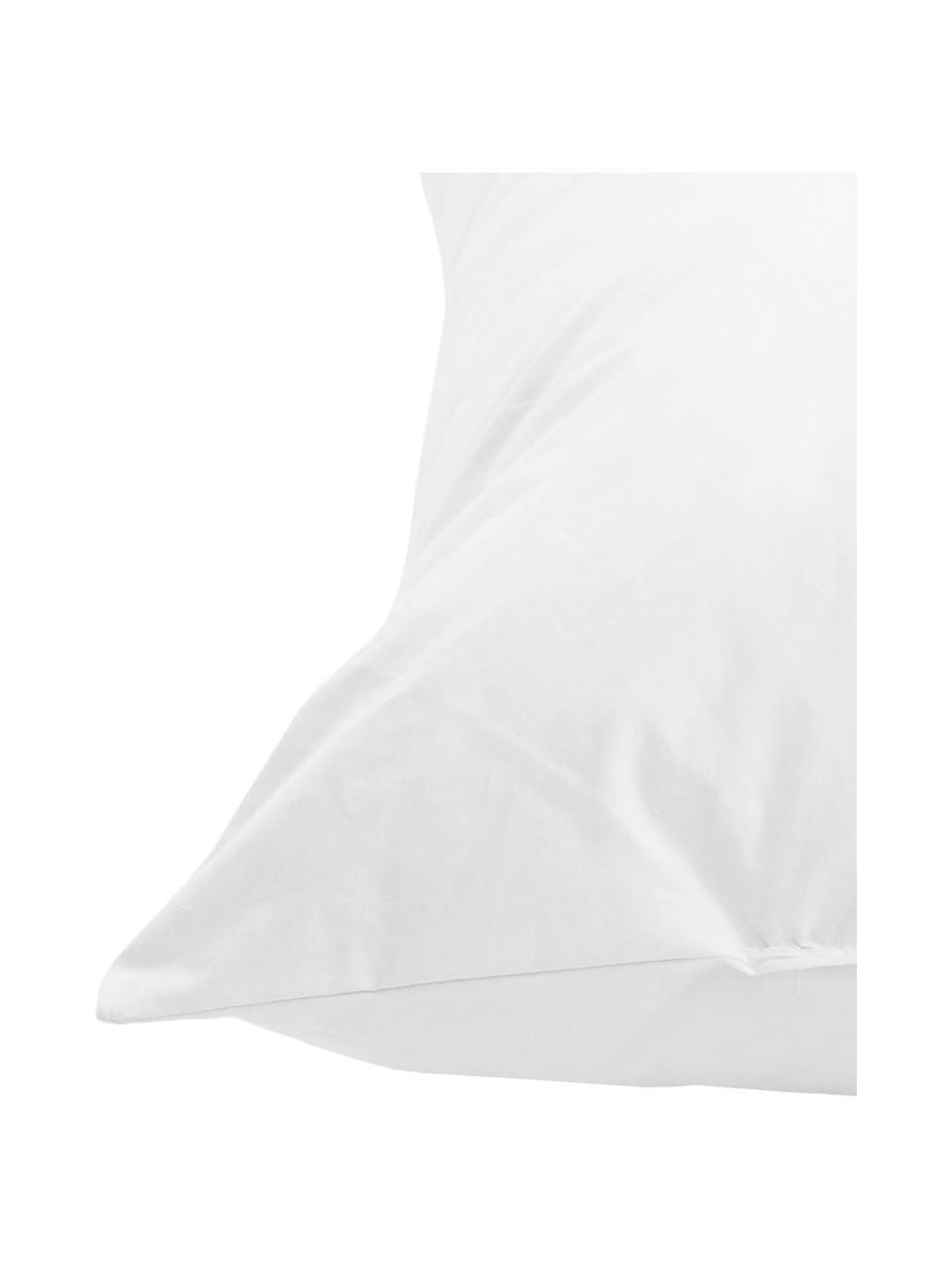 Kissen-Inlett Comfort, 50x50, Feder-Füllung, Bezug: Feinköper, 100% Baumwolle, Weiß, 50 x 50 cm