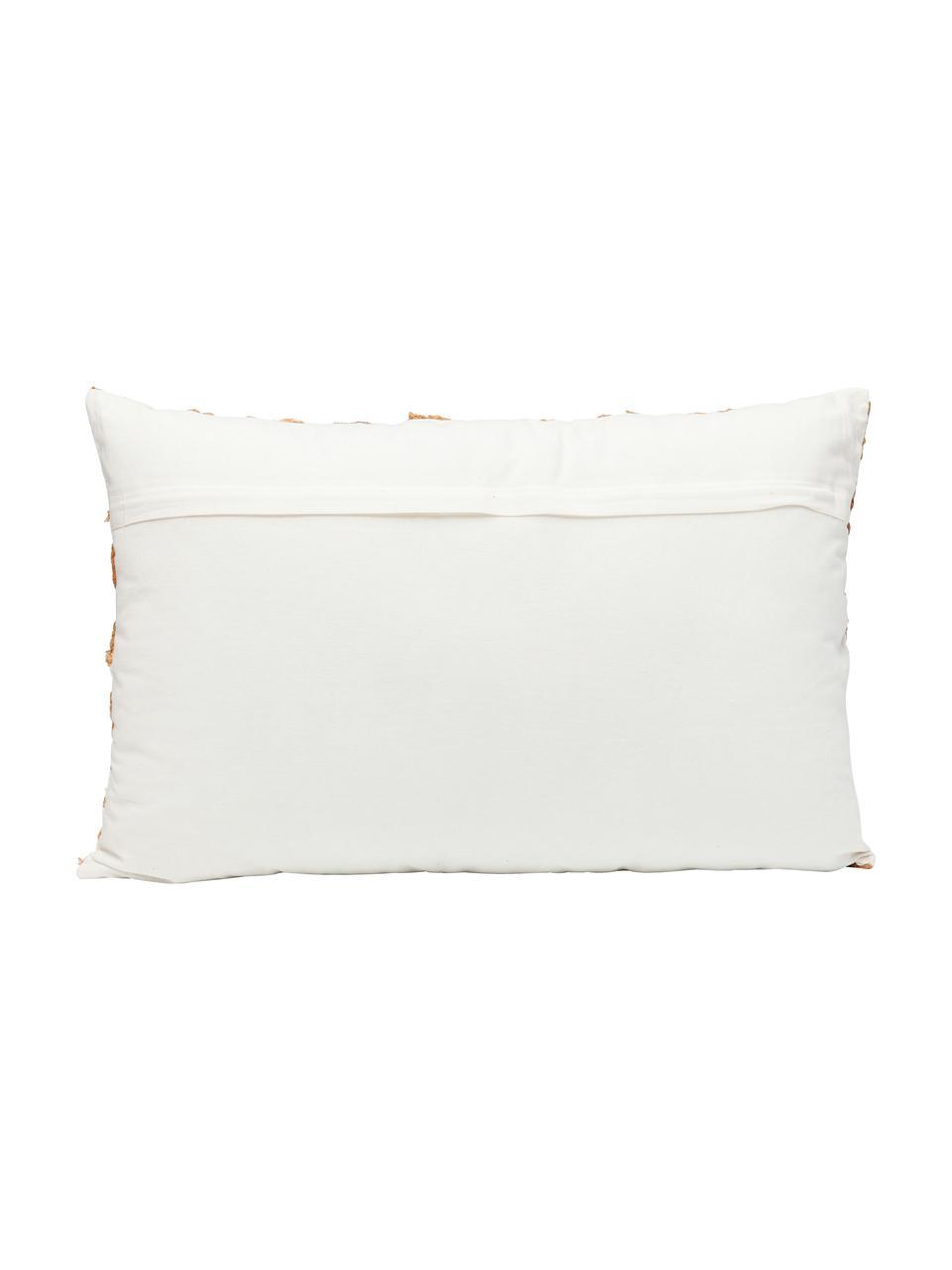 Haftowana poduszka z wypełnieniem Ethno Eye, Tapicerka: 100% bawełna, Biały, beżowy, niebieski, S 35 x D 55 cm