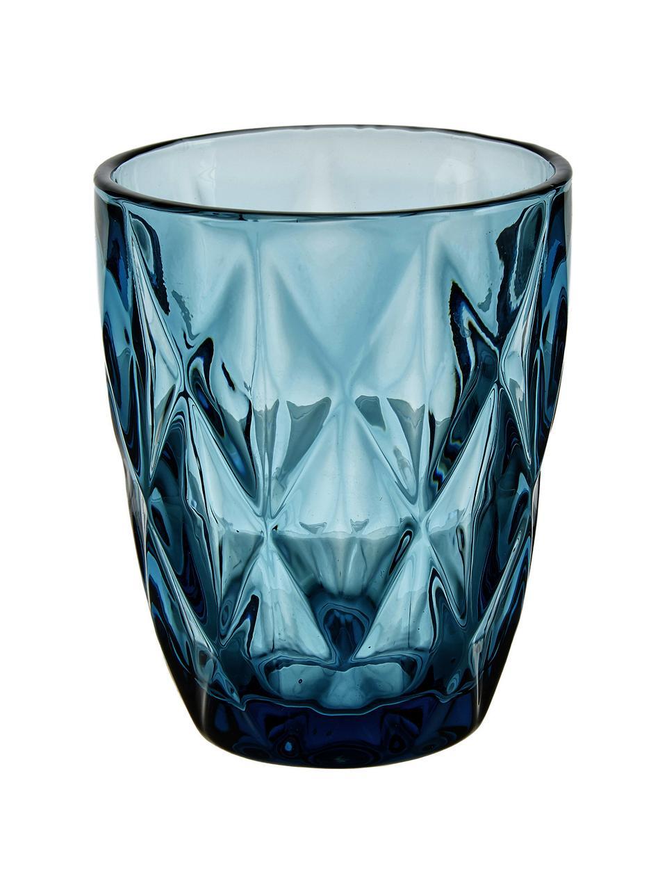 Szklanka do wody Colorado, 4 szt., Szkło, Niebieski, transparentny, Ø 8 x W 10 cm