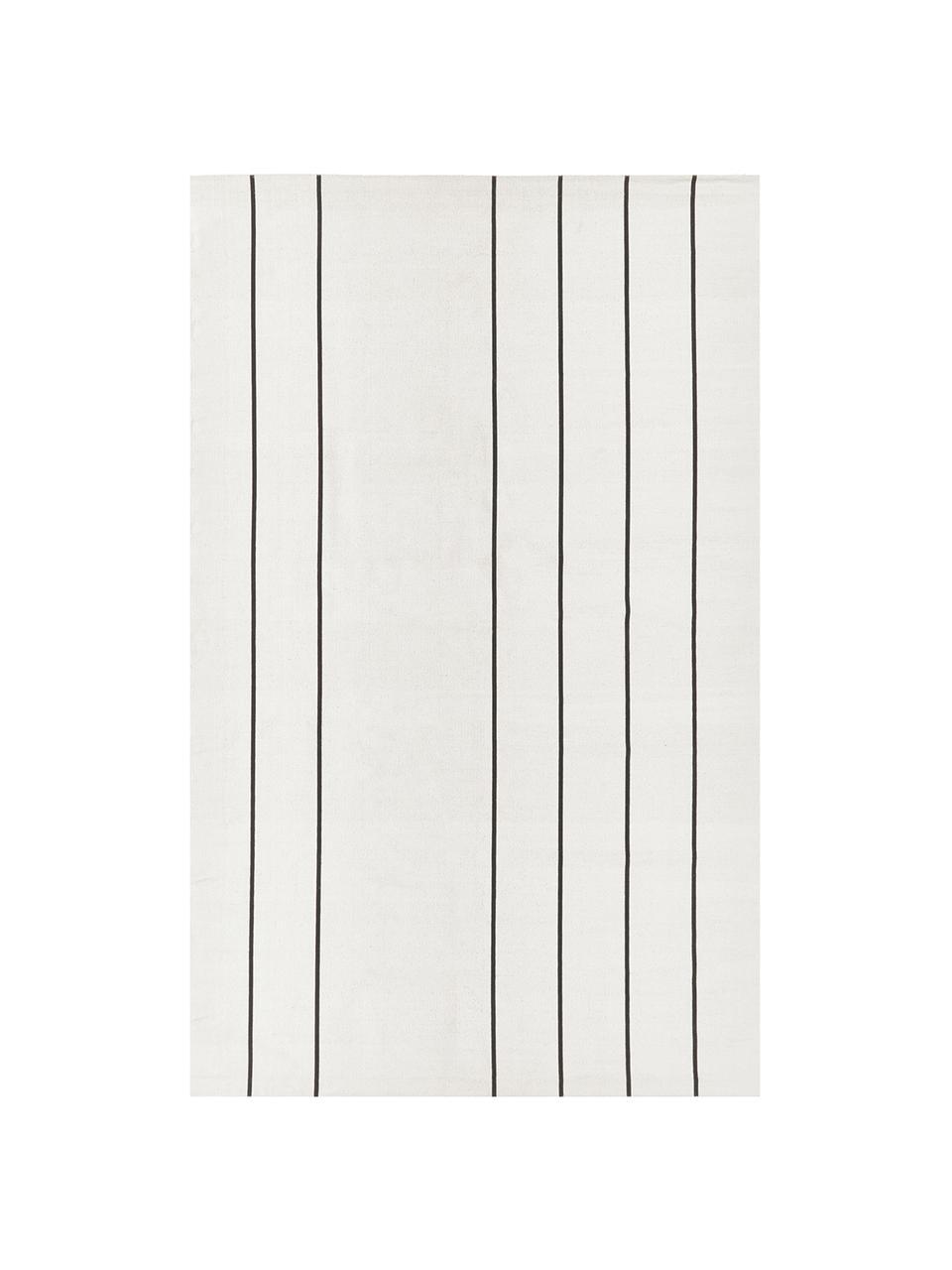 Ręcznie wykonany dywan z bawełny David, 100% bawełna, Kremowobiały, czarny, D 200 x S 300 cm (Rozmiar L)