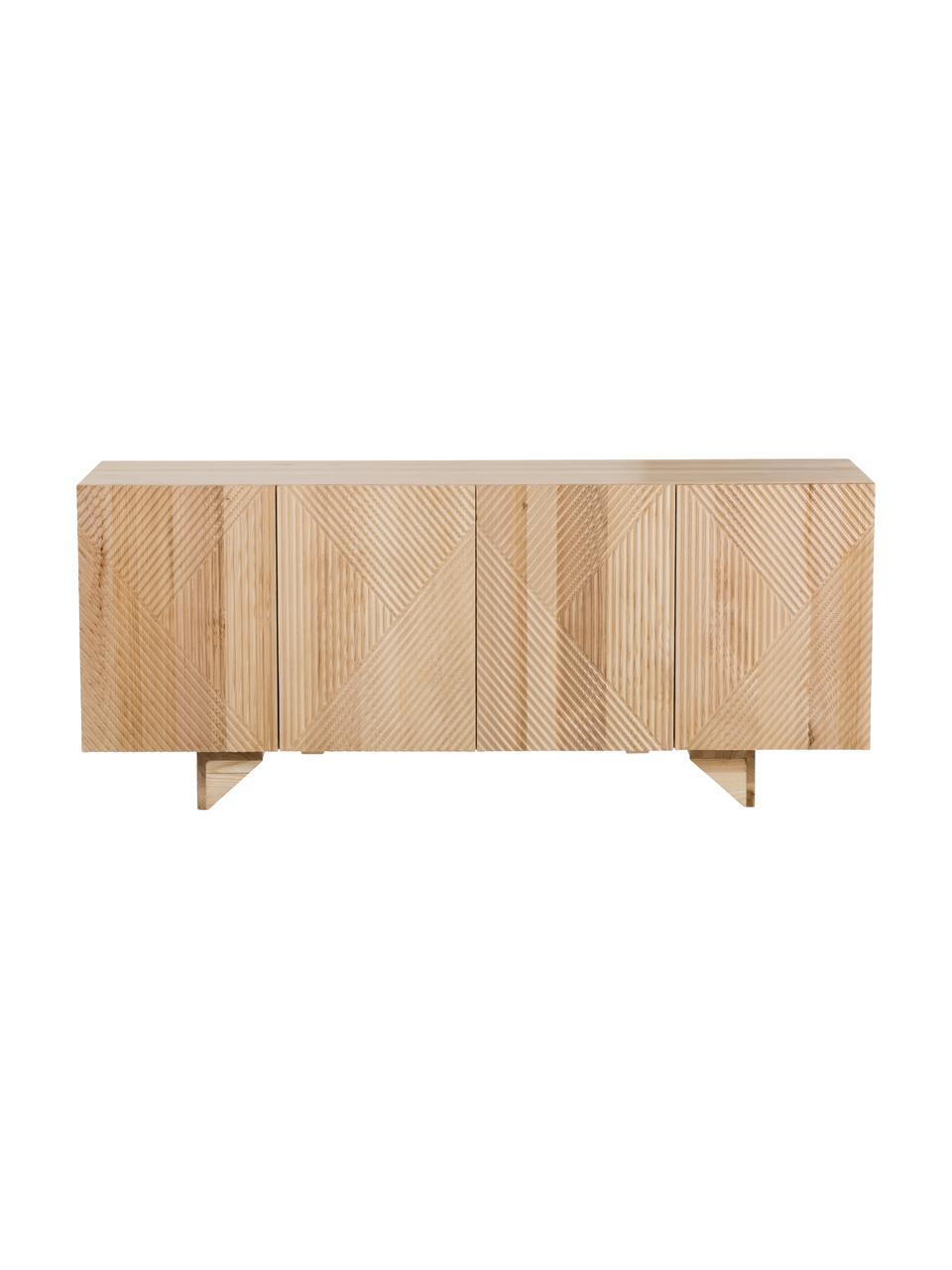 Komoda z litego drewna jesionowego Louis, Drewno jesionowe, S 177 x W 75 cm