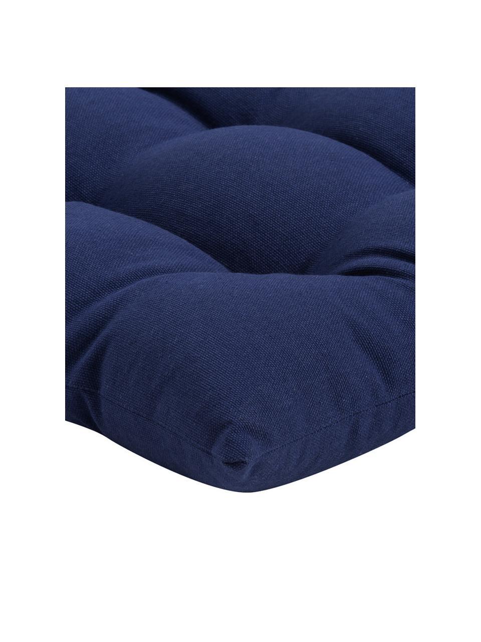 Stoelkussen Ava in marineblauw, Marineblauw, 40 x 40 cm