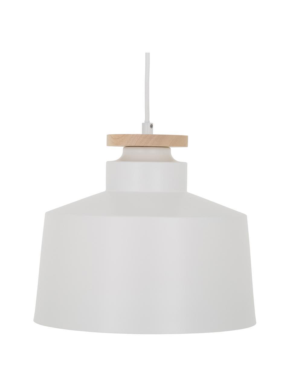 Lampada a sospensione stile nordico Malm, Paralume: metallo, Baldacchino: metallo, Bianco, Ø 30 x Alt. 26 cm