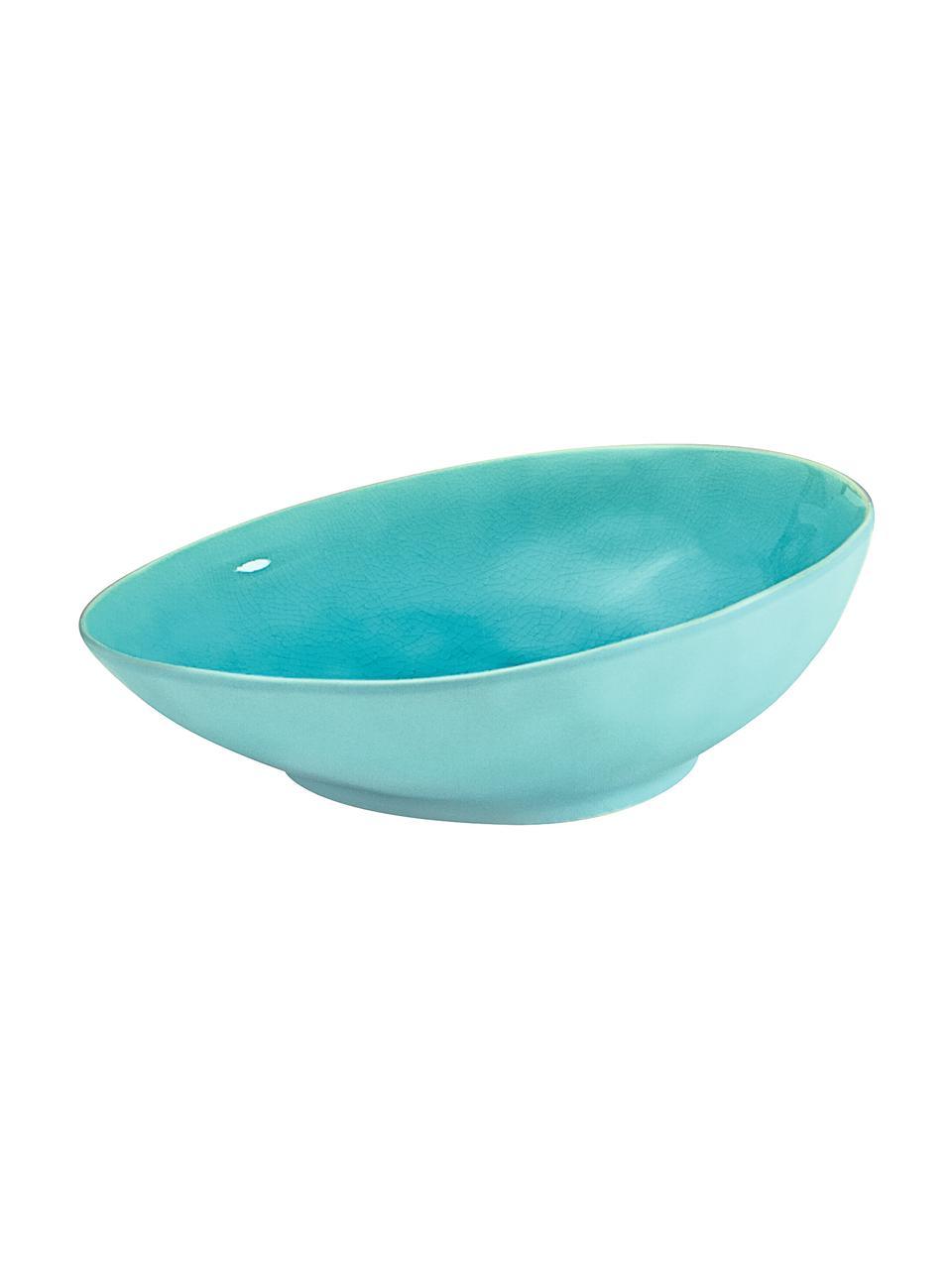 Bol apéritif porcelaine ovale turquoise Plage, 2pièces, Turquoise