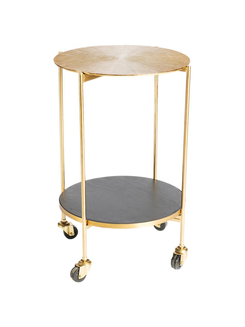 Wózek barowy Granta, Złoty, drewno mangowe, Ø 45 x W 60 cm