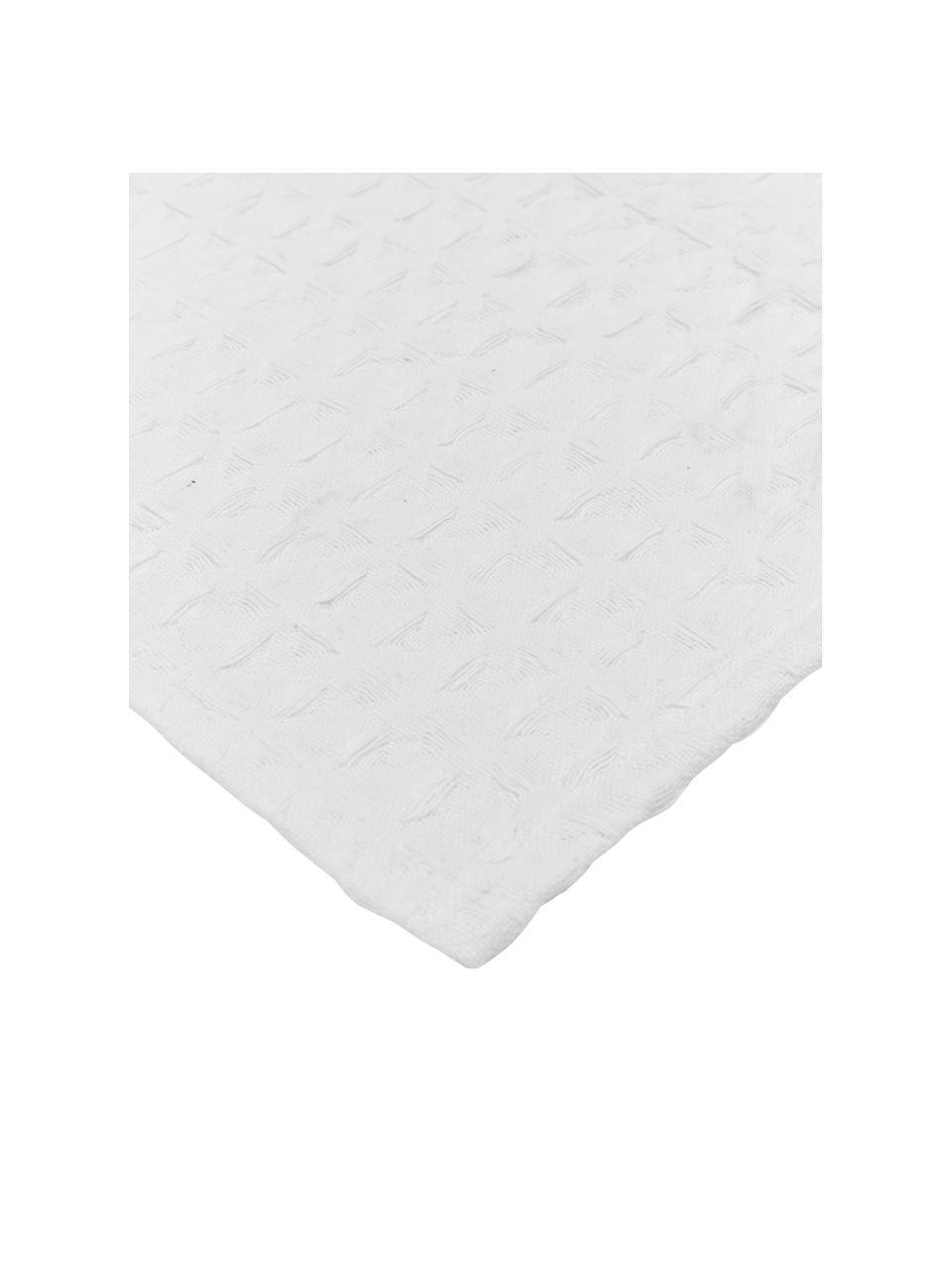 Narzuta z piki Panal, 100% bawełna, Biały, S 240 x D 260 cm