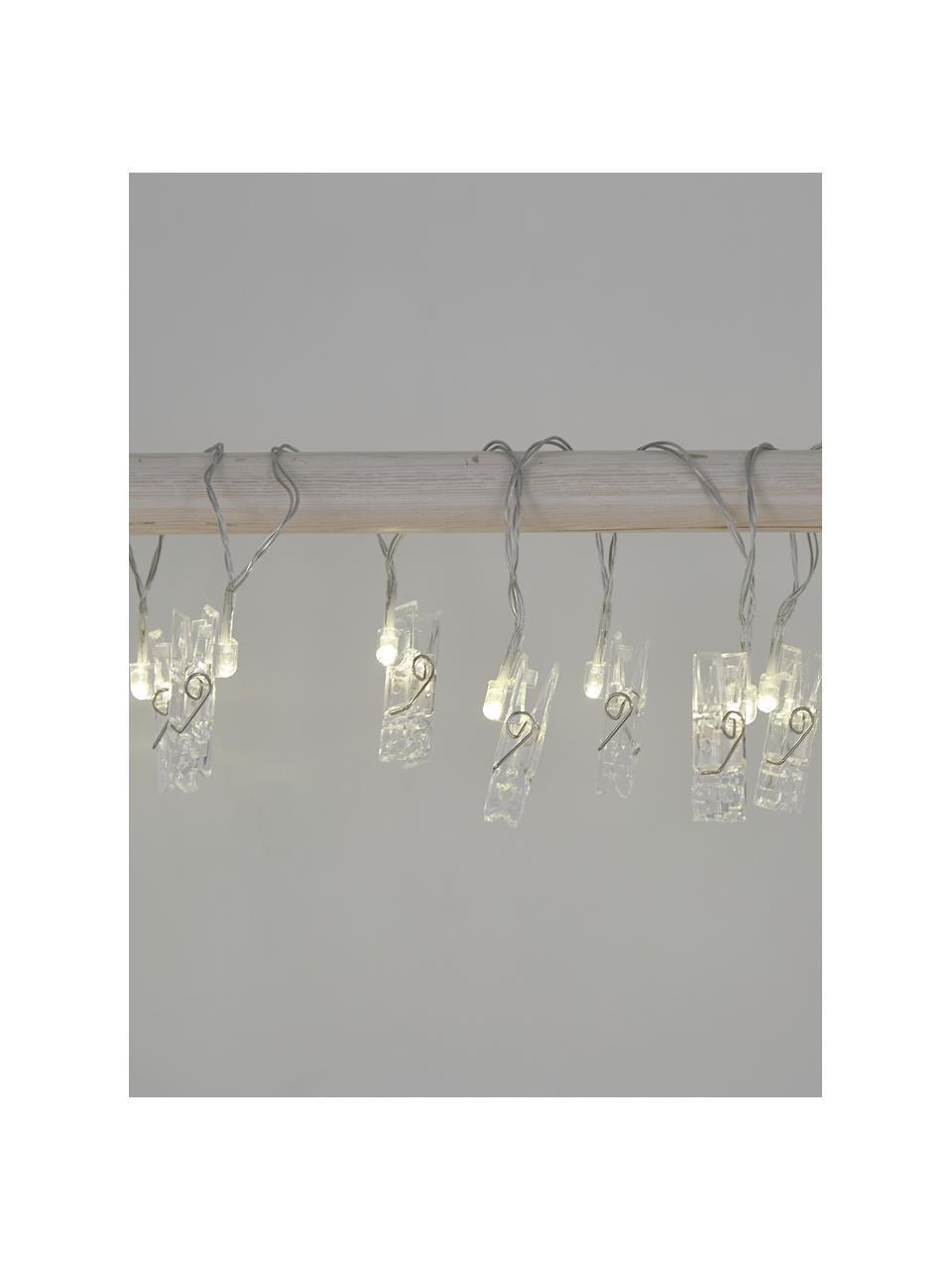 LED-Lichterkette Clippy, 135 cm, 10 Lampions, Transparent, L 135 cm