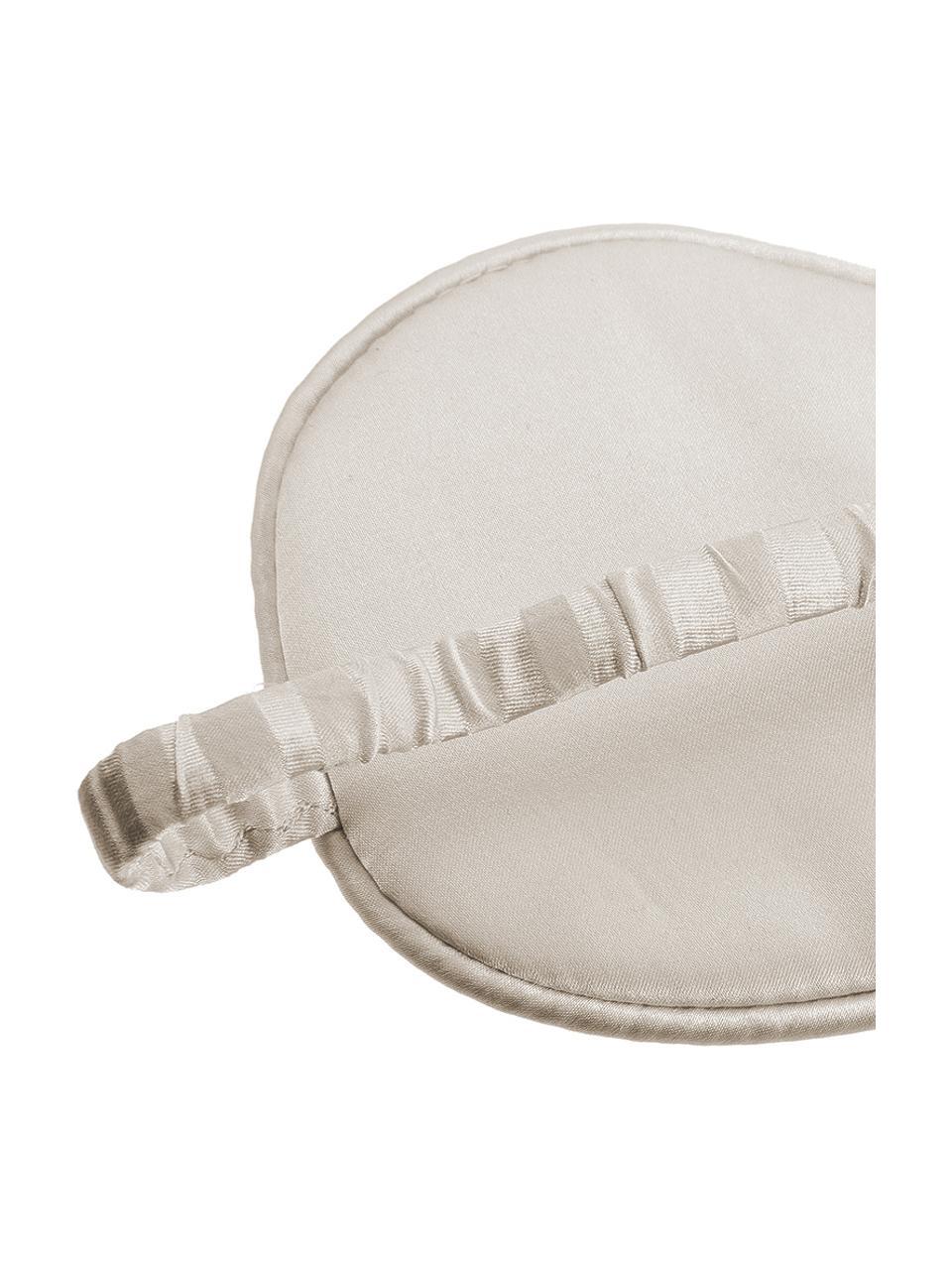 Maschera da notte in seta Silke, Interno: 100% seta, Cinturino: 100% seta, Avorio, beige, Larg. 21 x Alt. 9 cm