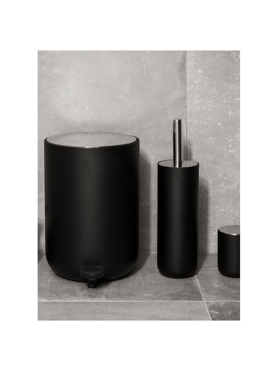 Toilettenbürste Matty aus Kunststoff mit Metallgriff, Metall, Kunststoff, Schwarz, Ø 10 x H 40 cm