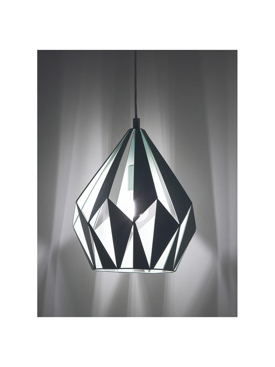 Skandi-Pendelleuchte Carlton, Lampenschirm: Stahl, lackiert, Baldachin: Stahl, lackiert, Hellgrün, Ø 31 x H 40 cm