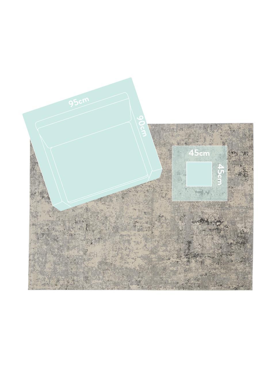 Vloerkleed Rustic in grijs/beige met hoog-laag structuur, Bovenzijde: 51% polypropyleen, 49% po, Onderzijde: latex, Grijs, beige, B 240 x L 320 cm (maat L)