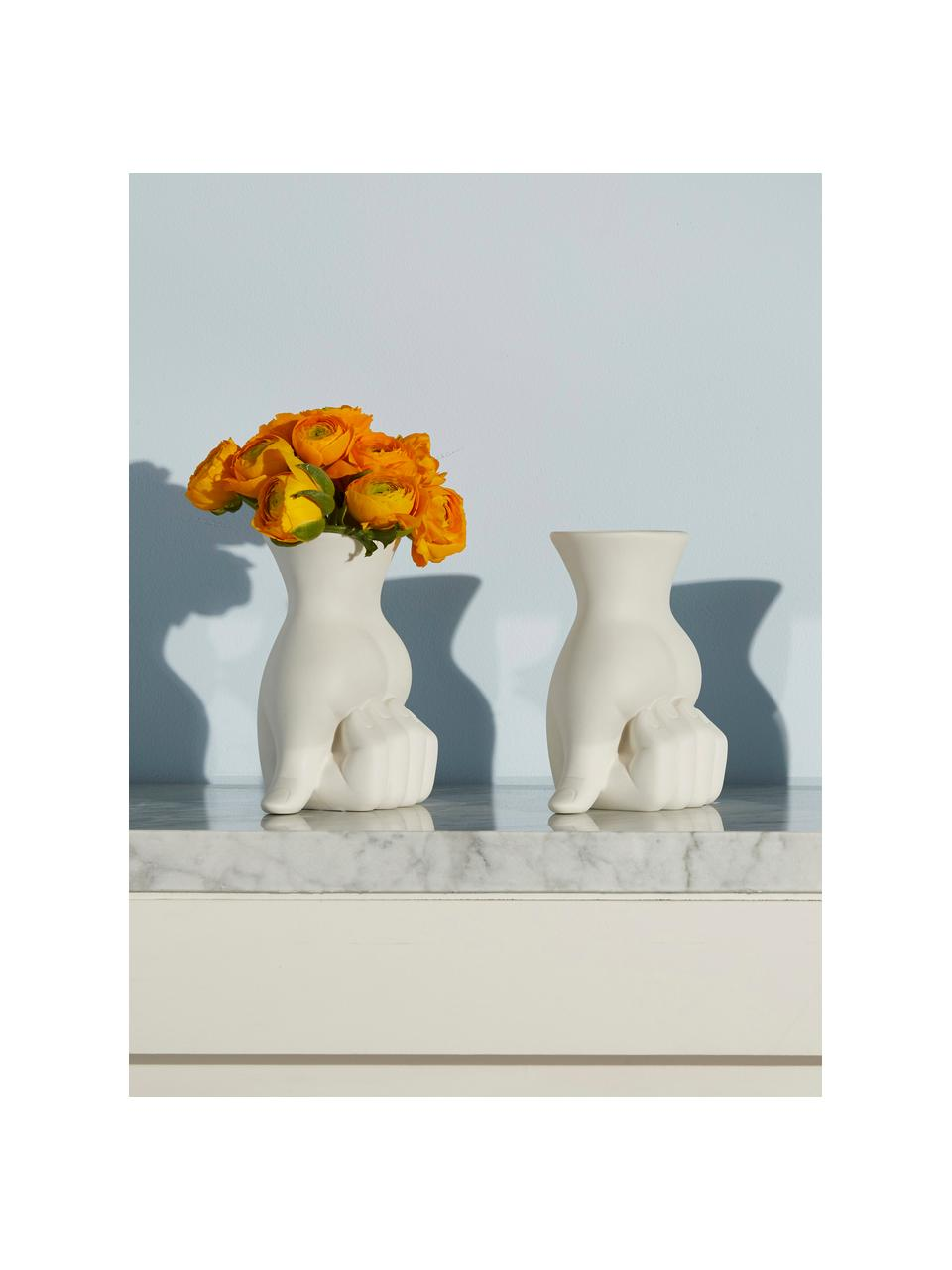 Mały wazon z porcelany Marcel, Porcelana, Biały, S 11 x W 18 cm