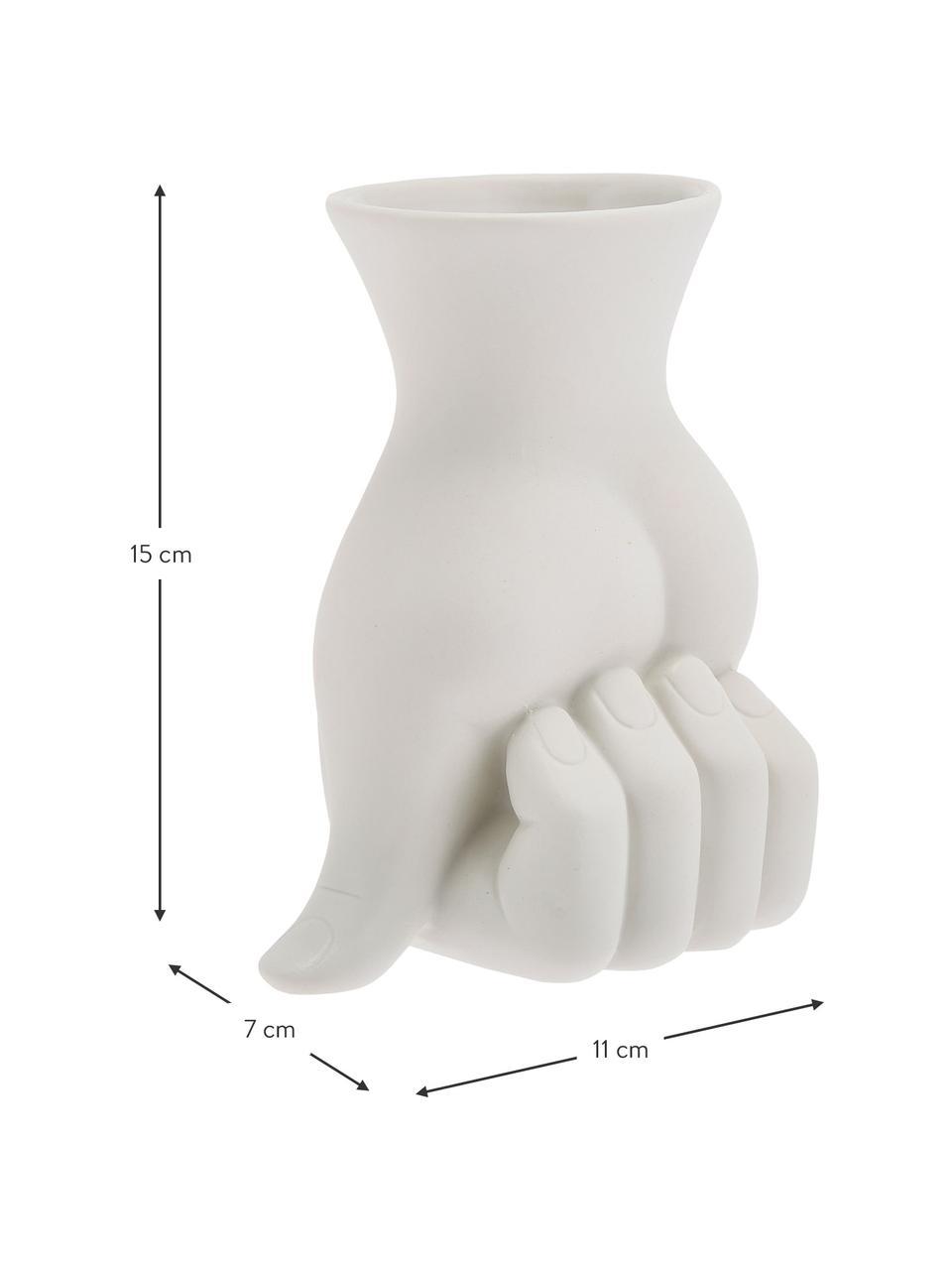 Kleine Designer-Vase Marcel aus Porzellan, Porzellan, Weiß, 11 x 18 cm