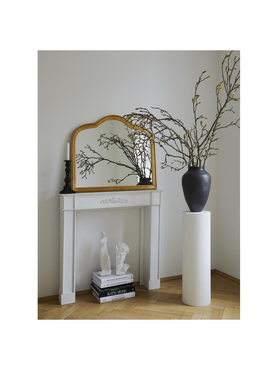 Barock-Wandspiegel Muriel mit goldenem Holzrahmen, Rahmen: Massivholz beschichtet, Rückseite: Mitteldichte Holzfaserpla, Spiegelfläche: Spiegelglas, Goldfarben, 90 x 77 cm
