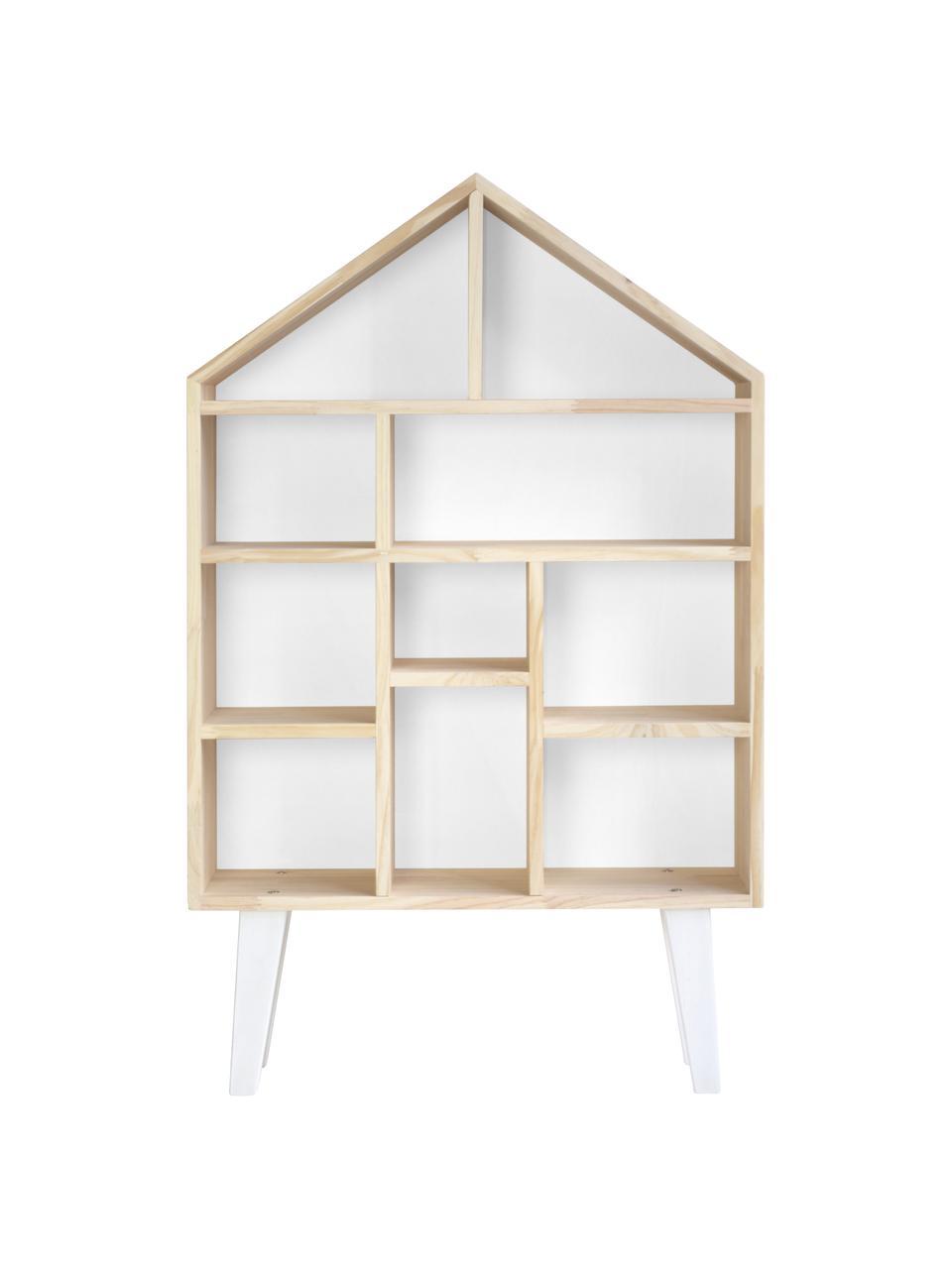 Libreria in legno Blanca, Legno di pino, bianco, Larg. 75 x Alt. 120 cm