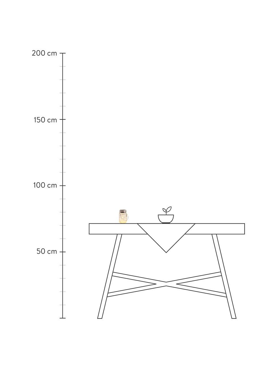 Lampada solare da tavolo Nanay 3 pz, Paralume: vetro, Coperchio: materiale sintetico, Manico: metallo, Trasparente, argentato, Ø 8 cm x Alt. 13 cm