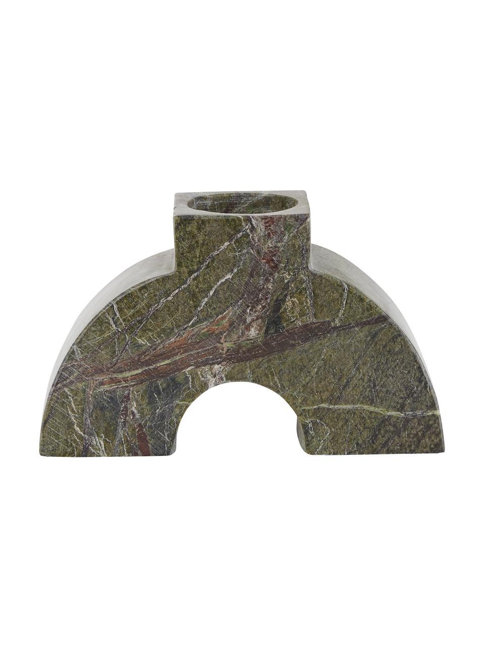 Świecznik z marmuru Arch Thick, Marmur, Zielony, S 9 x W 15 cm