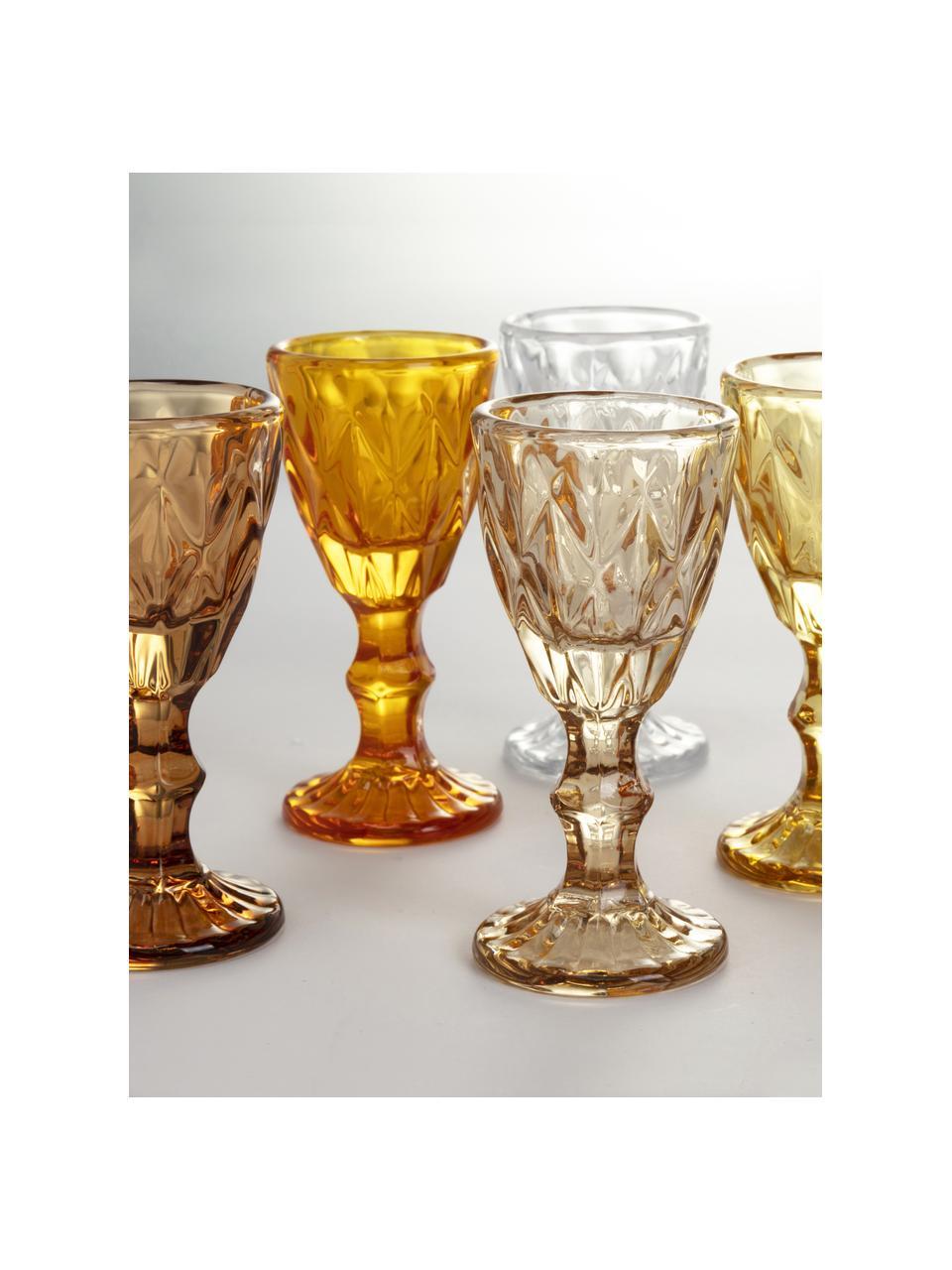 Komplet kieliszków do likieru Shades, 6 elem., Szkło, Odcienie żółtego, Ø 5 x W 11 cm