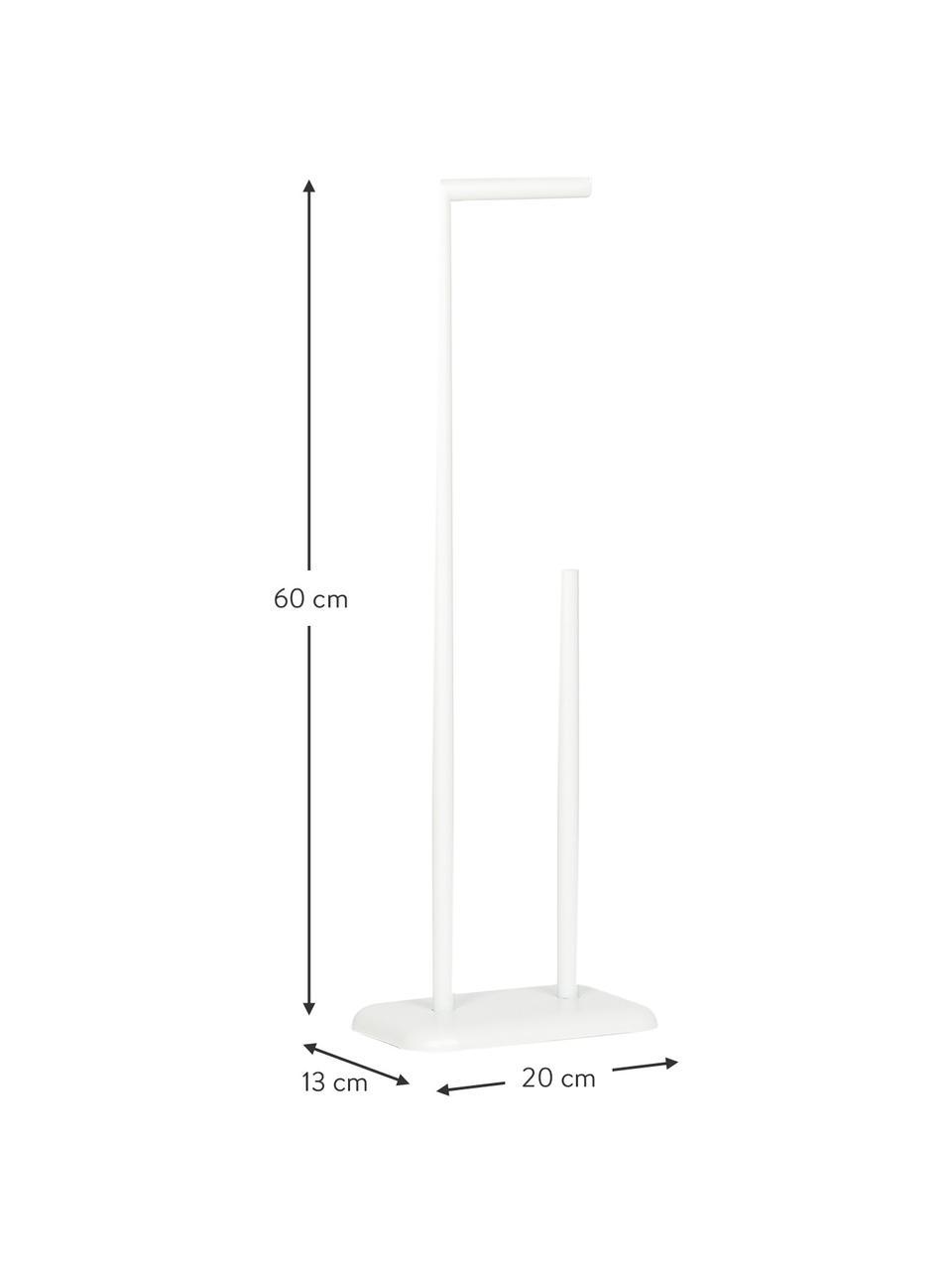 Toilettenpapierhalter Bankside, Metall, beschichtet, Weiß, 20 x 60 cm