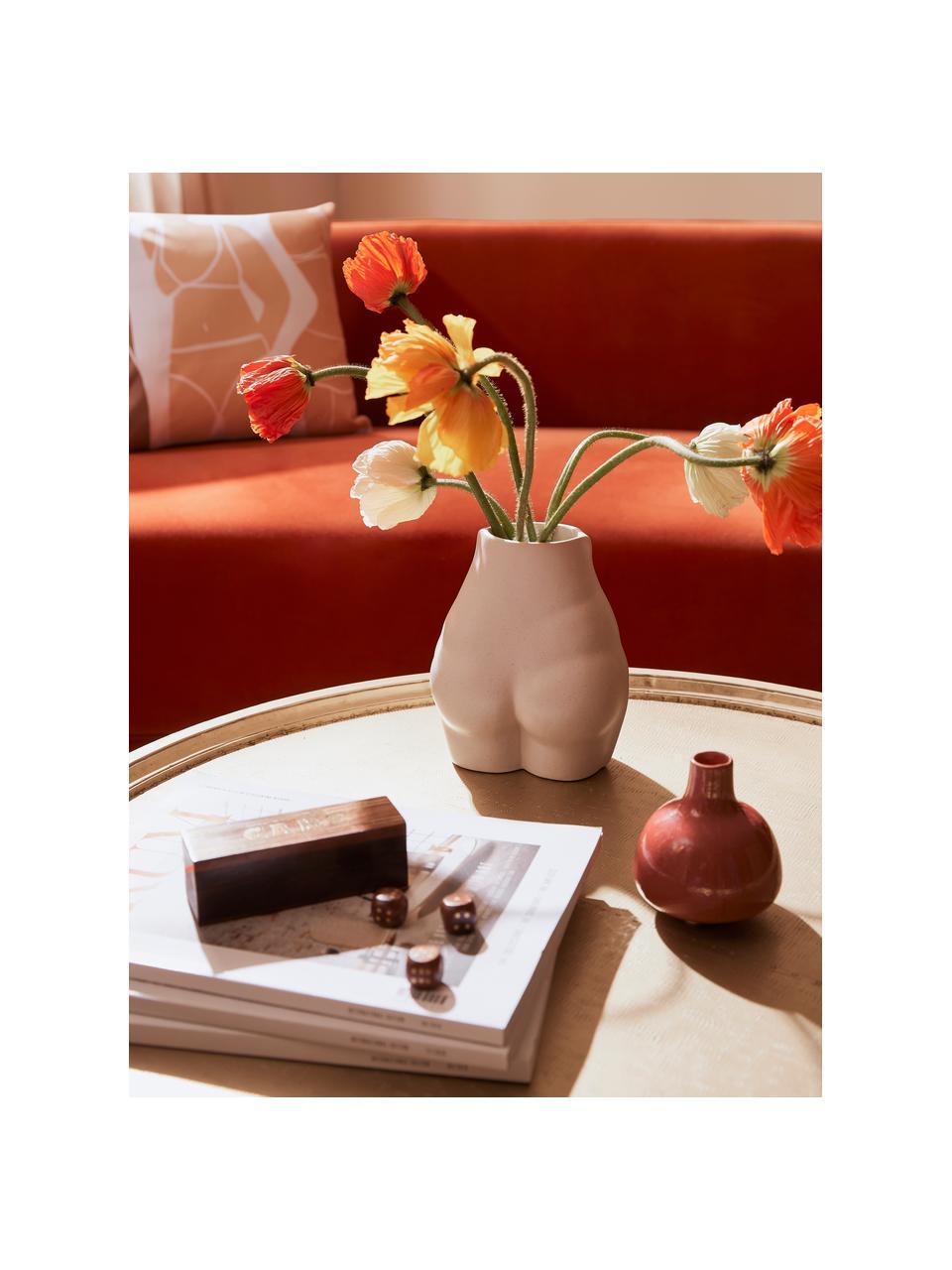 Porzellan-Vase Nature, Porzellan, Beige, 15 x 19 cm