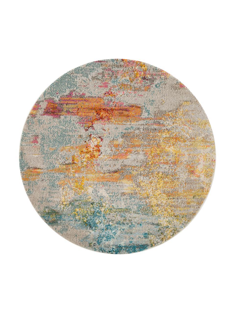 Tapis rond design multicolore Celestial, Multicolore