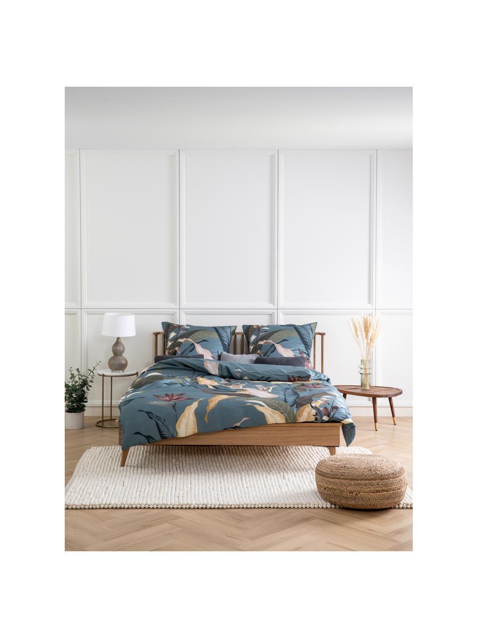Houten bed Wild met hoofdeinde, MDF met eikenhoutfineer, Eikenhoutkleurig, 160 x 200 cm