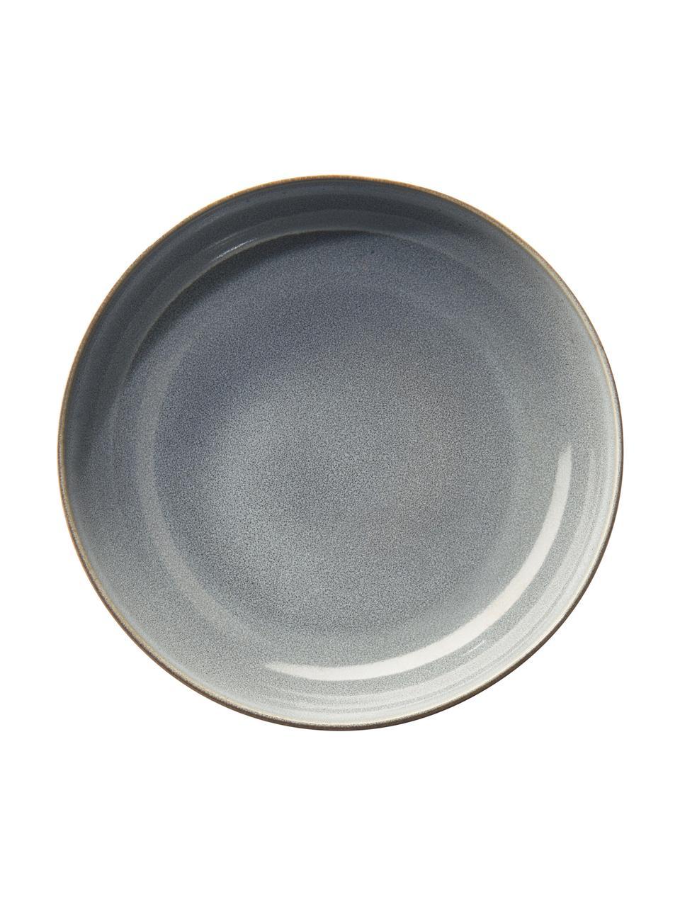 Miseczka z kamionki Saisons, 6 szt., Kamionka, Niebieski, Ø 15 x W 5 cm